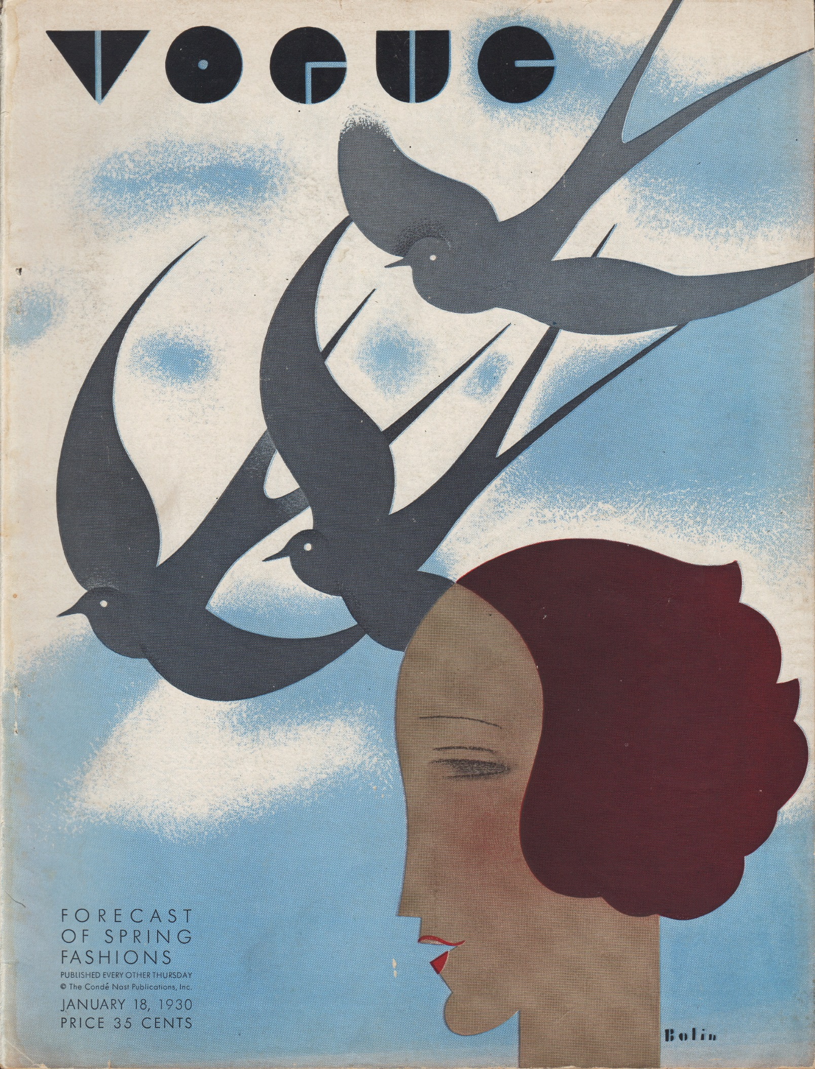 Image for Vogue Magazine January 18, 1930