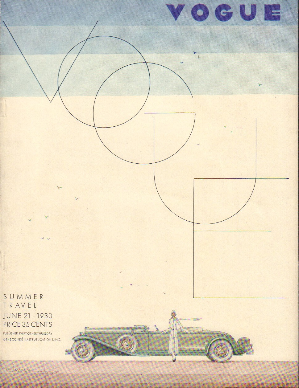 Image for Vogue Magazine, June 21, 1930. Cover