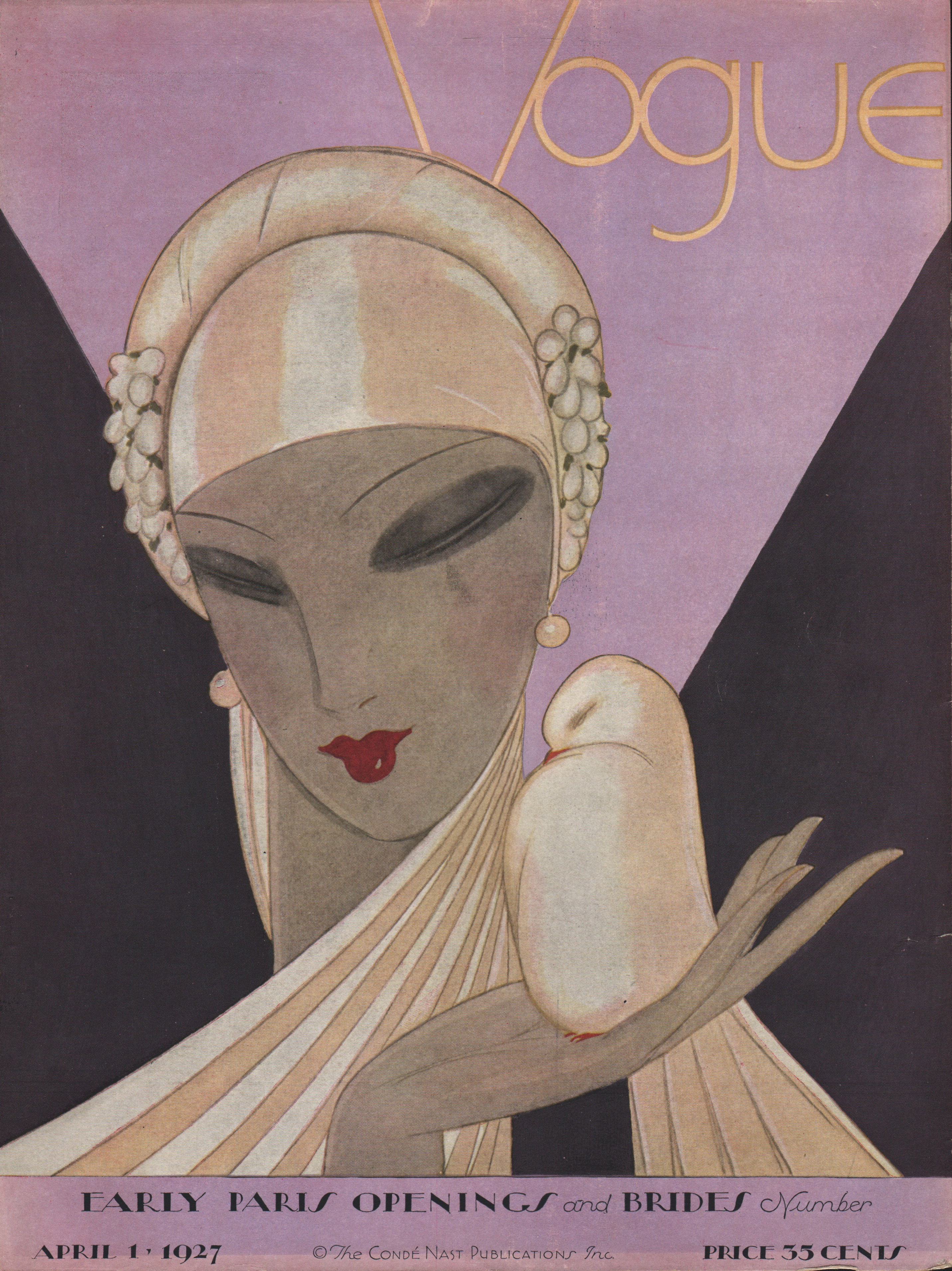 Image for Vogue Magazine, April 1, 1927. Cover only.