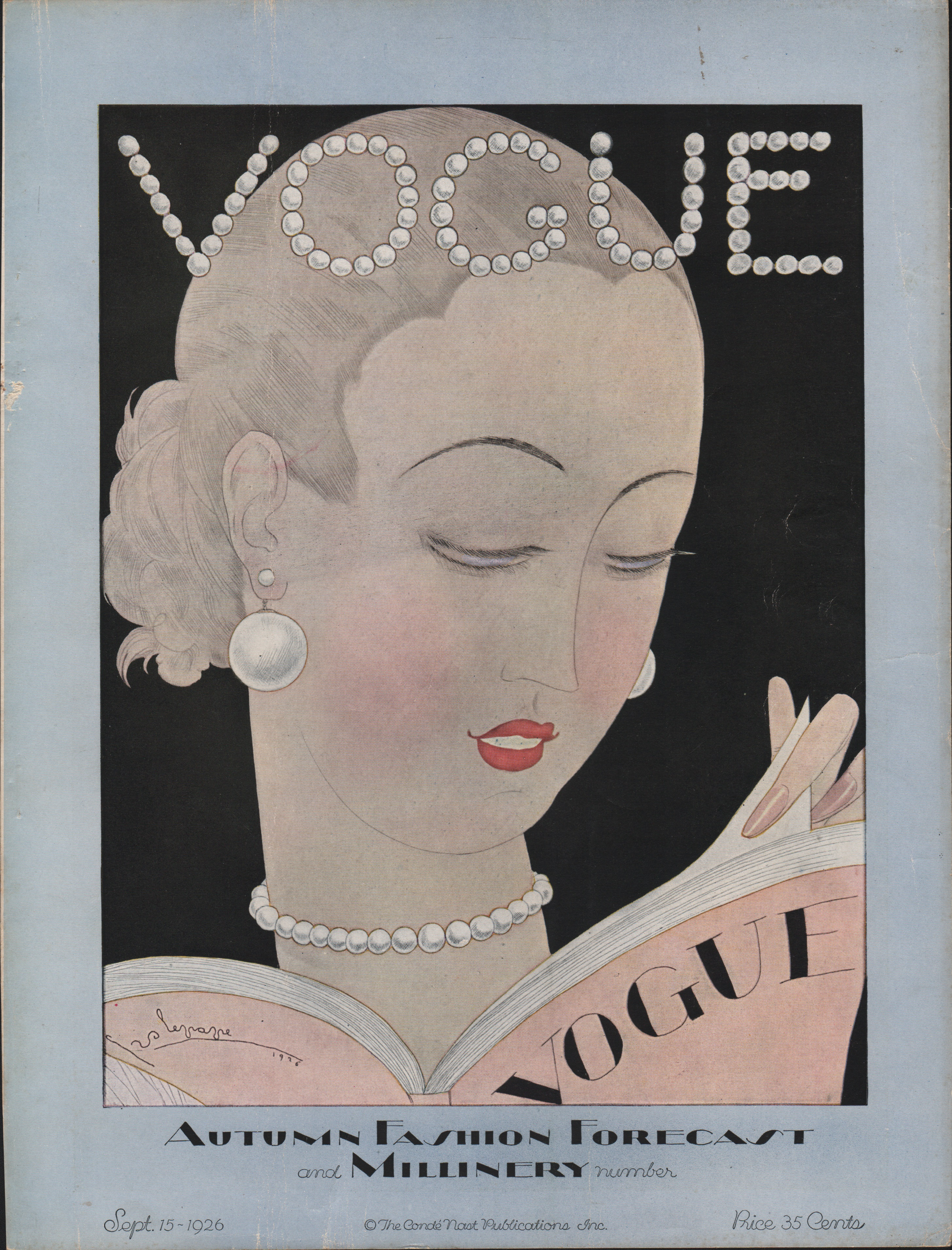Image for Vogue Magazine, September 15, 1926. Cover.