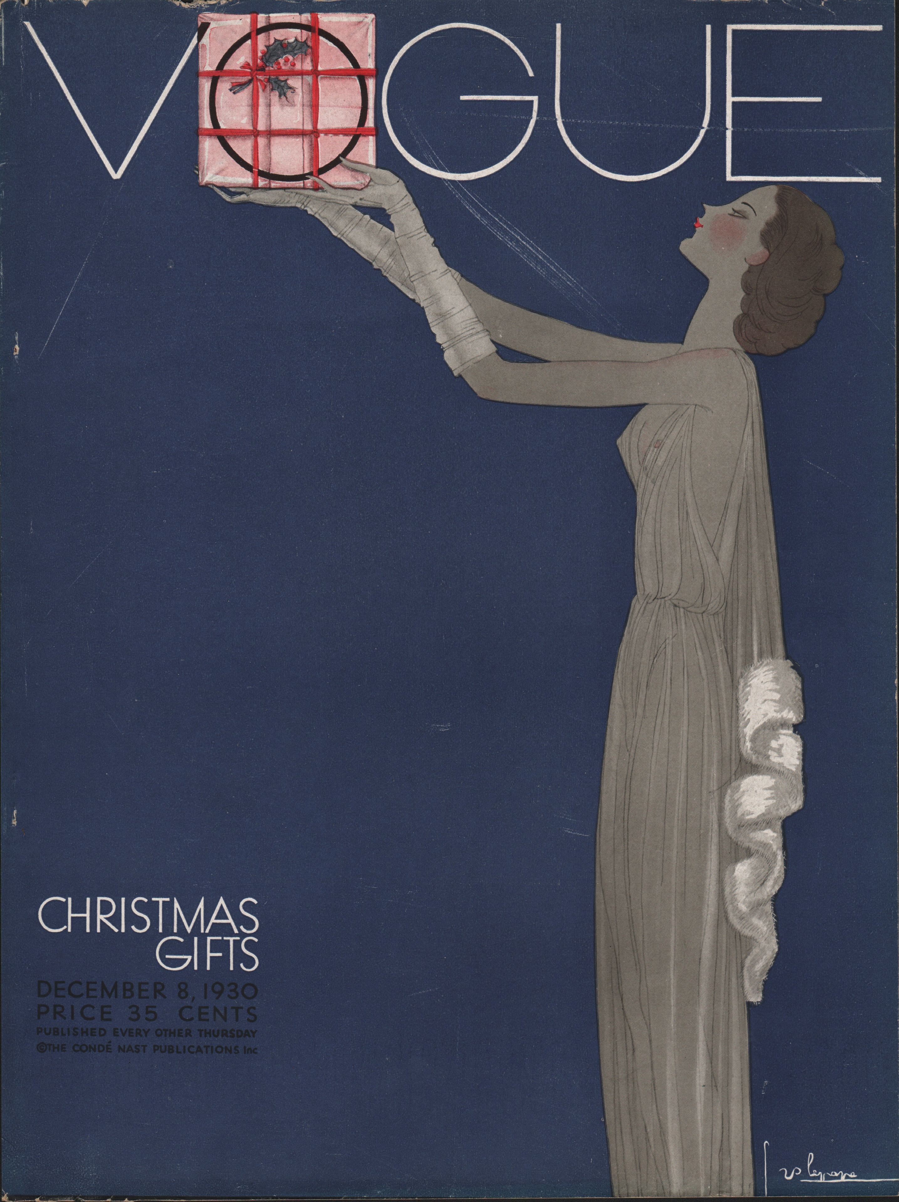 Image for Vogue Magazine, December 8, 1930. Cover Only.