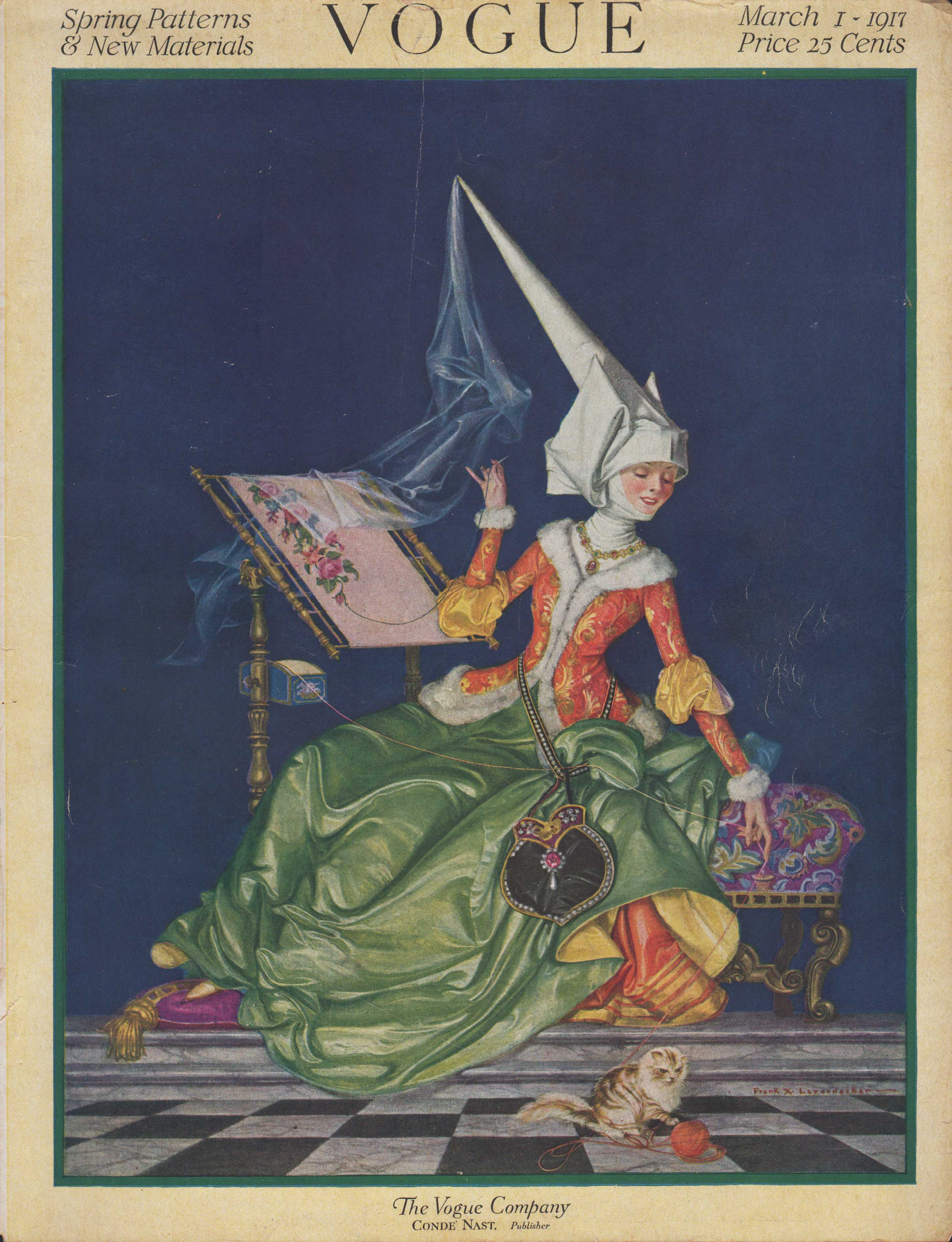 Image for Vogue Magazine, March 1, 1917 - Cover Only