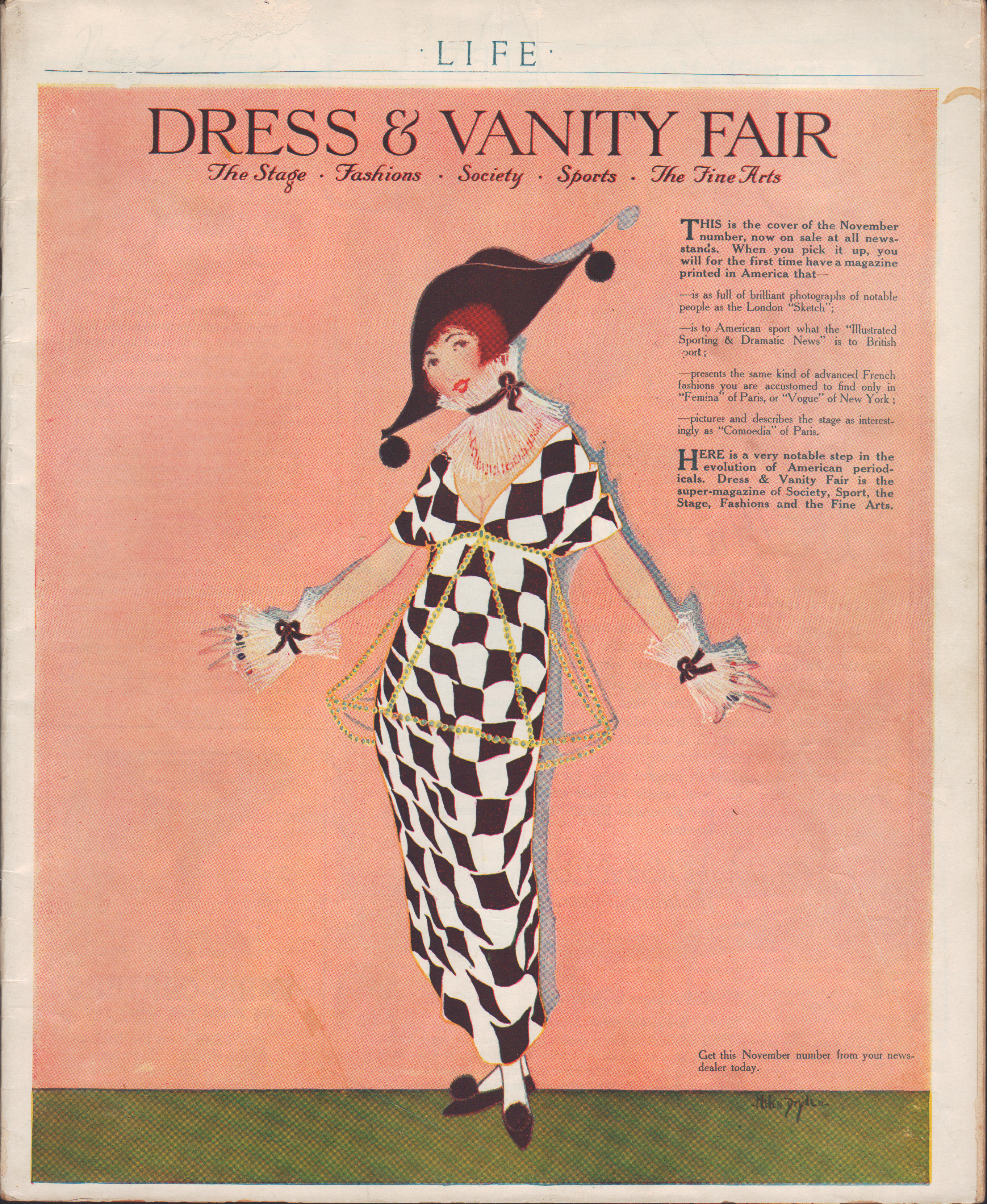 Image for Color Advertisement for Vanity Fair from Life Magazine, November 6, 1913