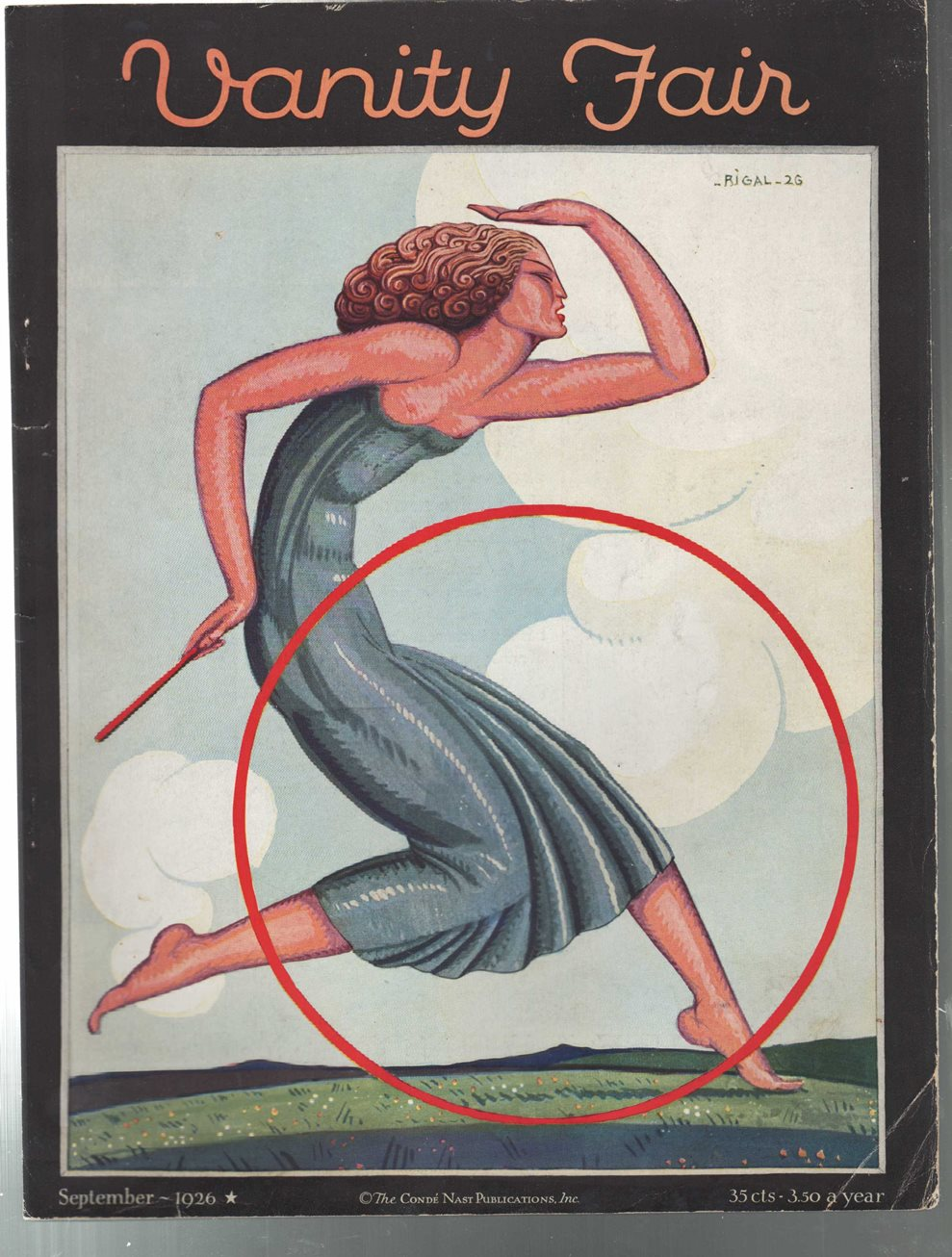 Image for Vanity Fair Magazine, September 1926 - Cover Only