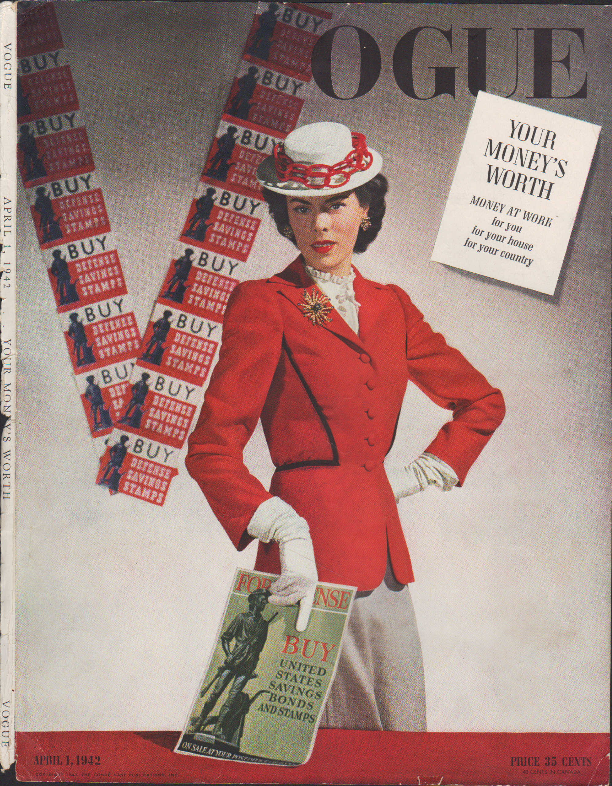 Image for Vogue Magazine, April 1, 1942  - Cover Only