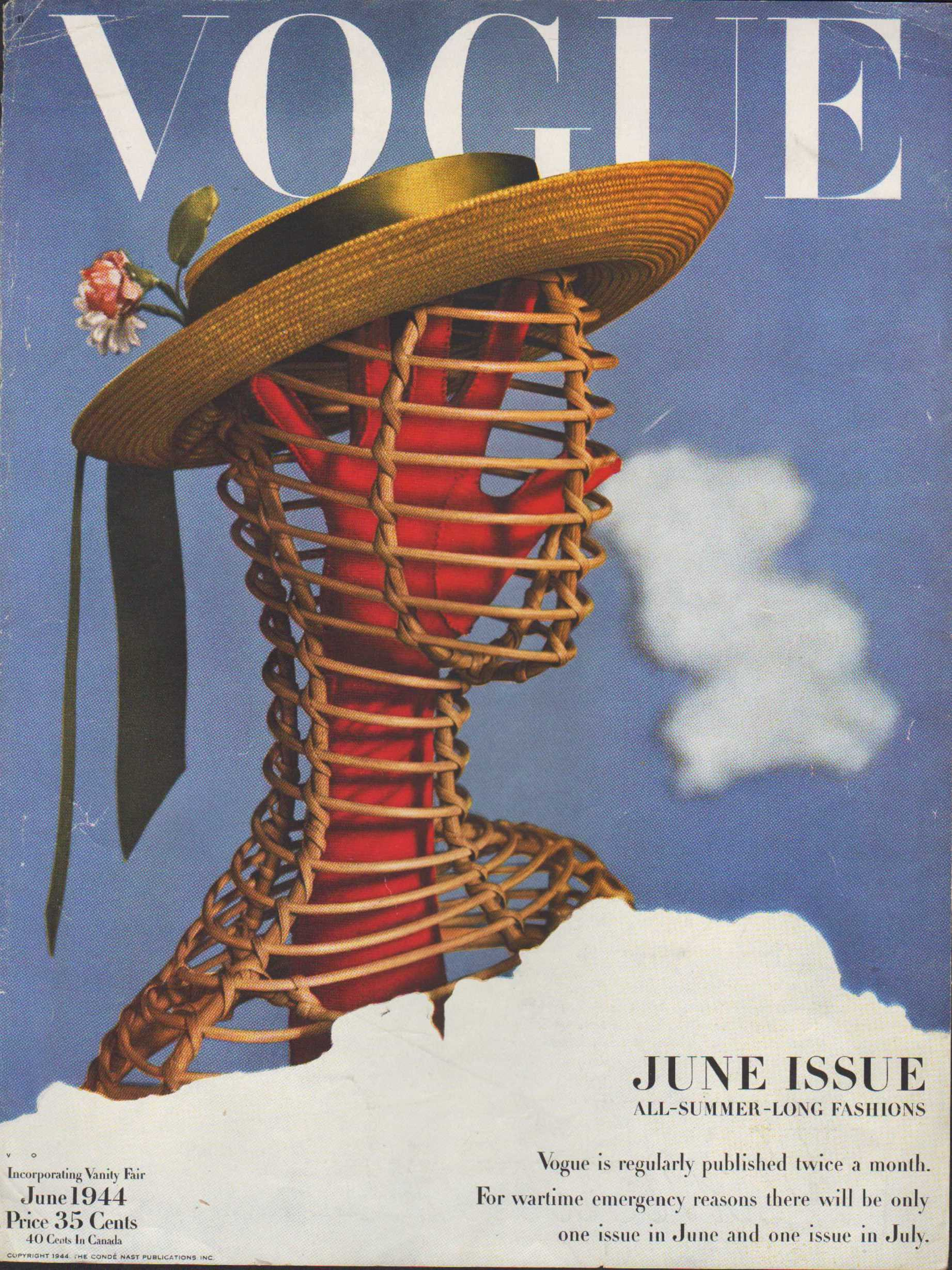 Image for Vogue Magazine, June, 1944 - Cover Only