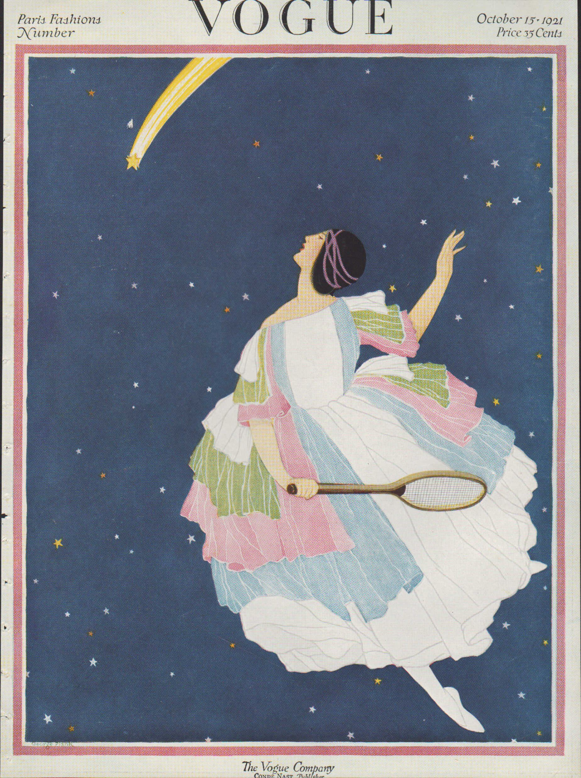 Image for Vogue Magazine, October 15, 1921 - Cover Only