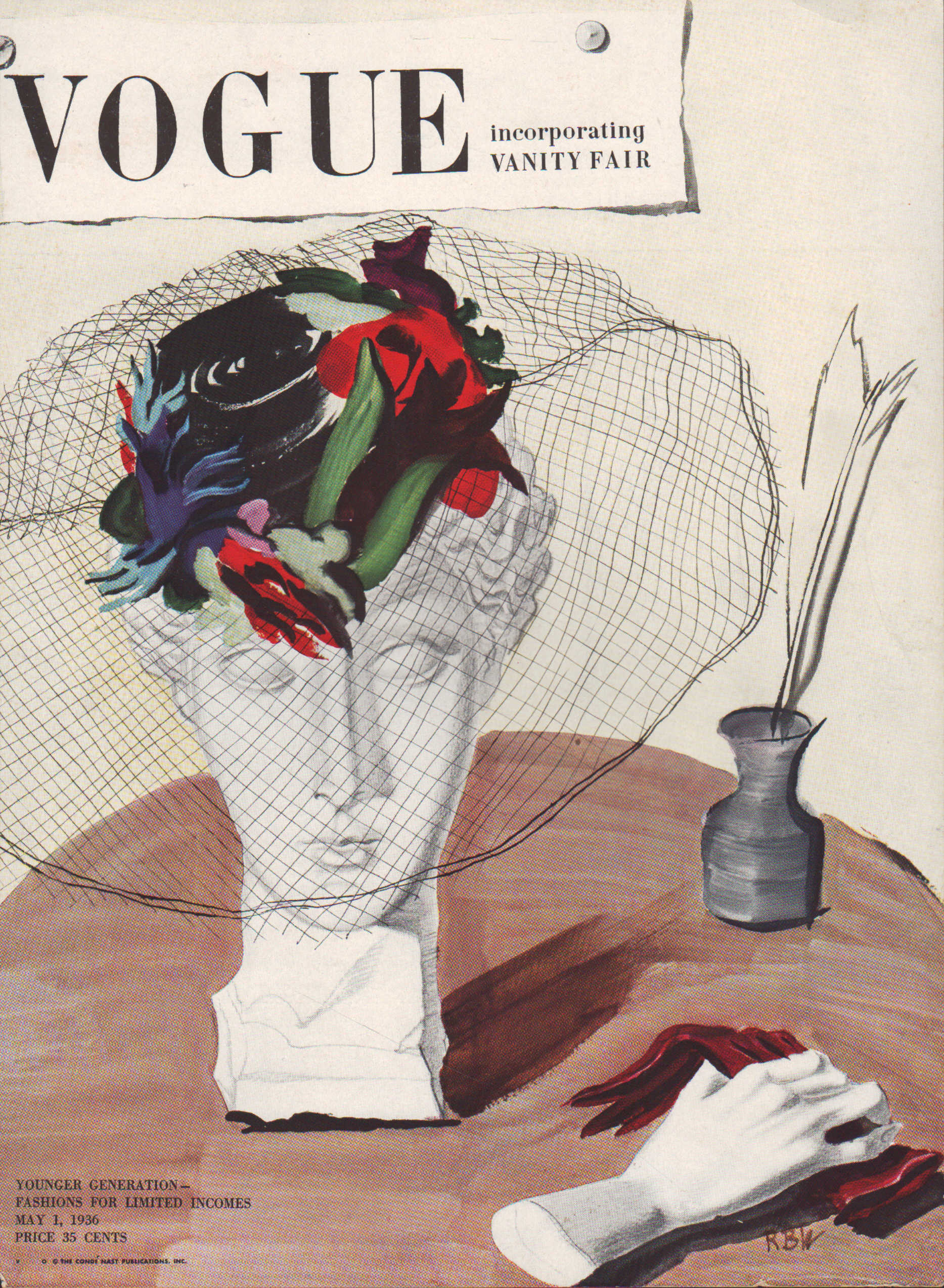Image for Vogue Magazine, May 1, 1936 - Cover Only