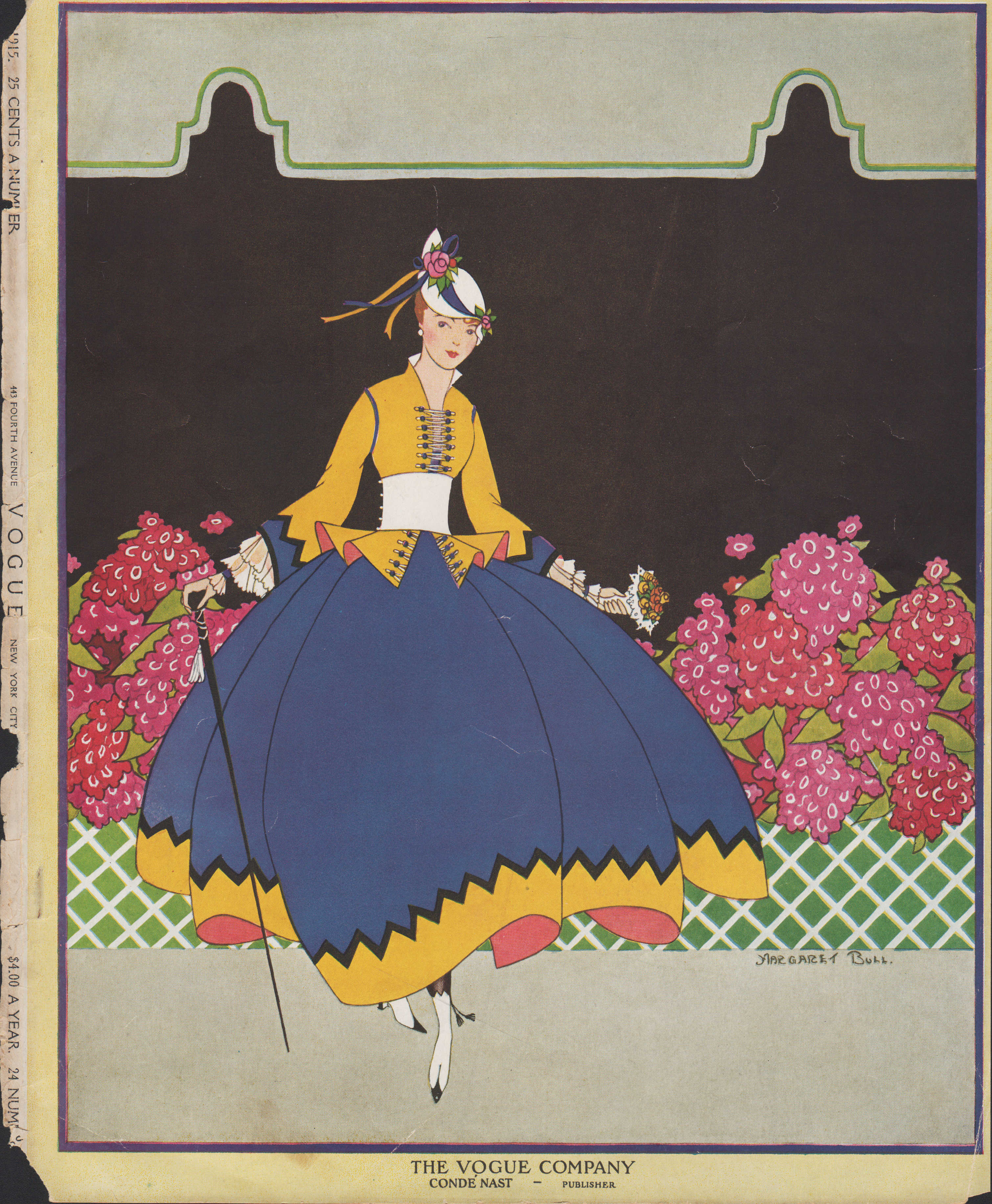 Image for Vogue Magazine, July 15, 1915 - Cover Only. Sans text.