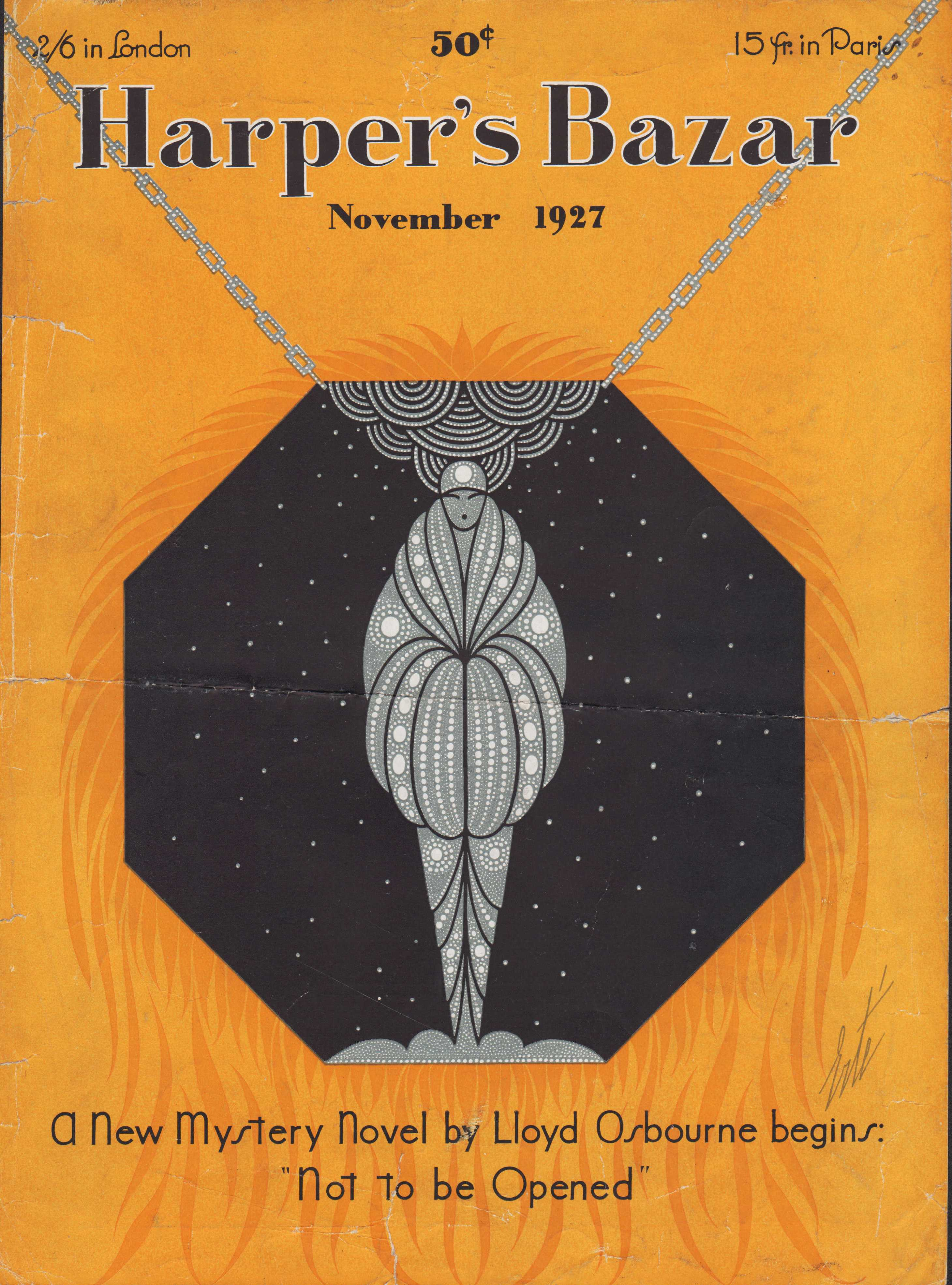 Image for Harper's Bazar (Harper's Bazaar) November, 1927 - Cover Only