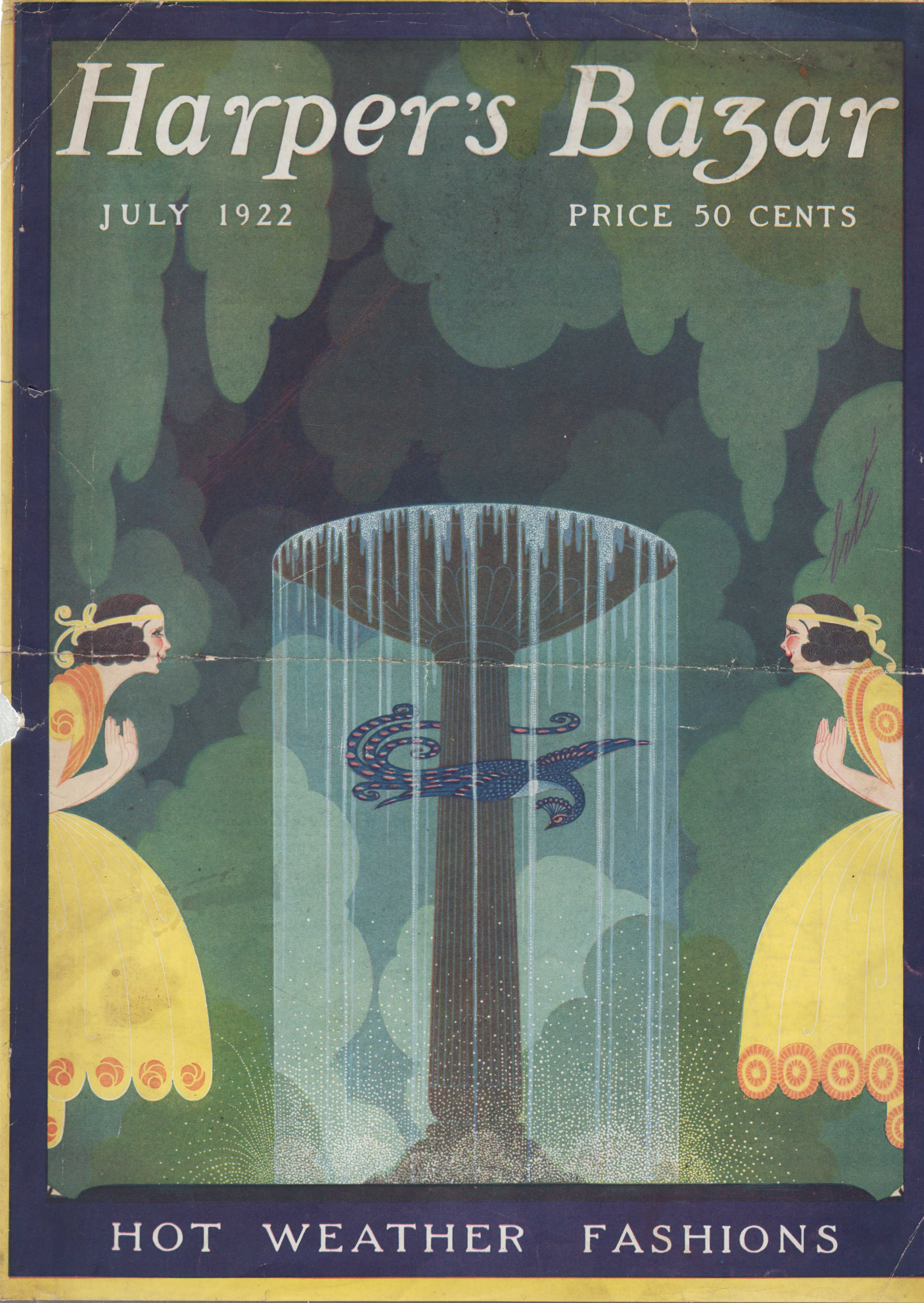 Image for Harper's Bazar (Harper's Bazaar) July, 1922 - Cover Only Hot Weather Fashions