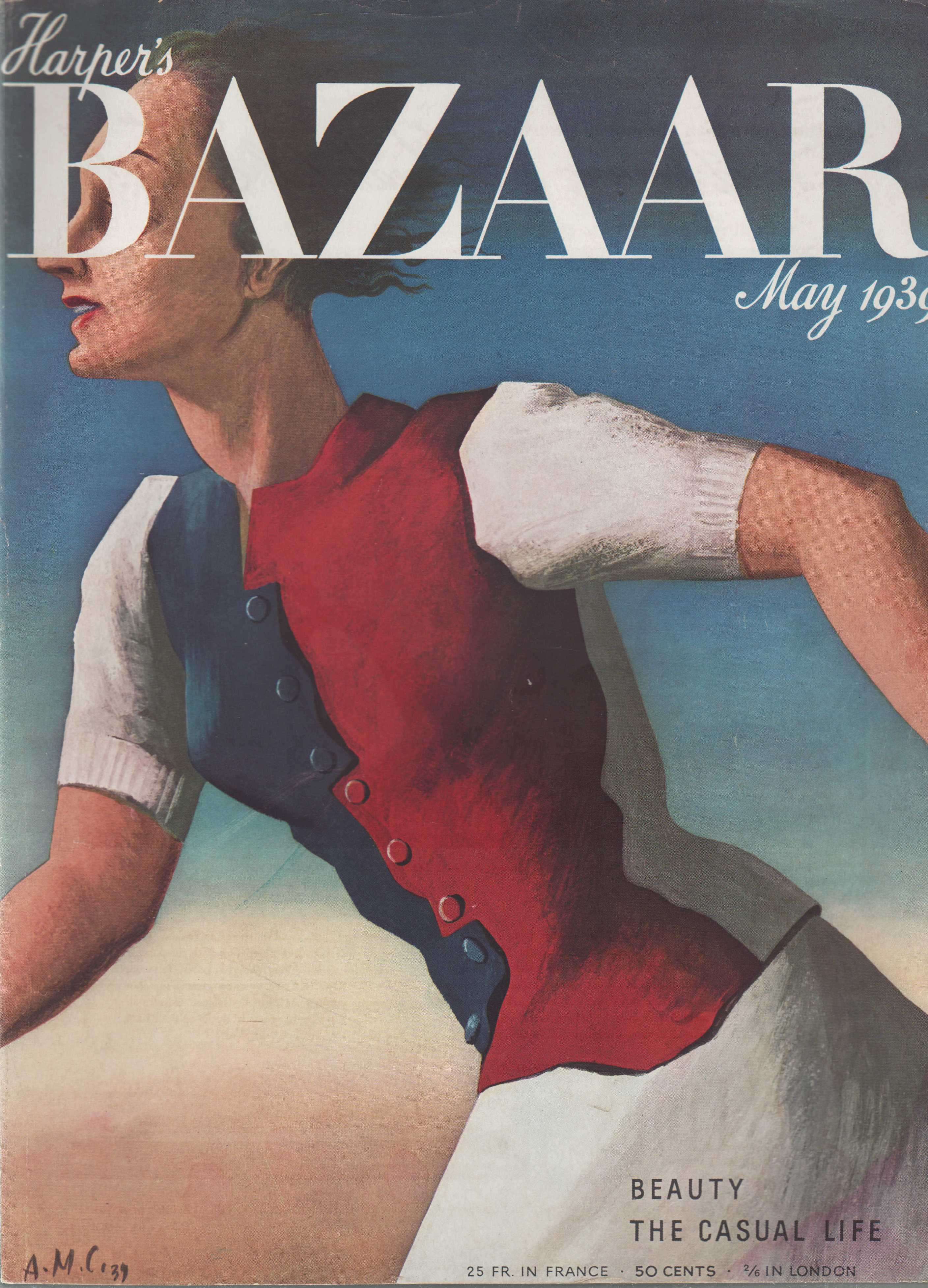 Image for Harper's Bazar (Harper's Bazaar) - May, 1939 - Cover Only