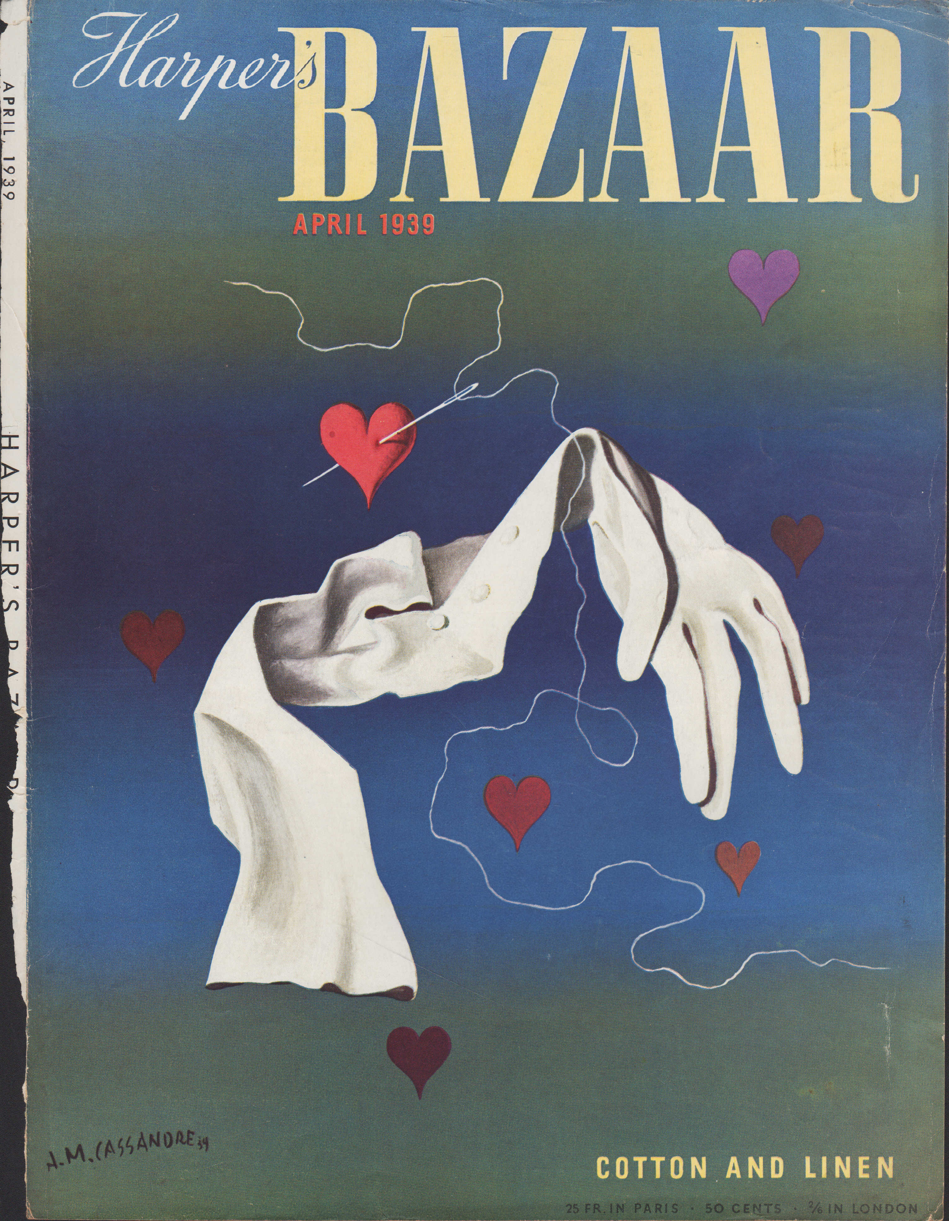 Image for Harper's Bazar (Harper's Bazaar) - April, 1939 - Cover Only