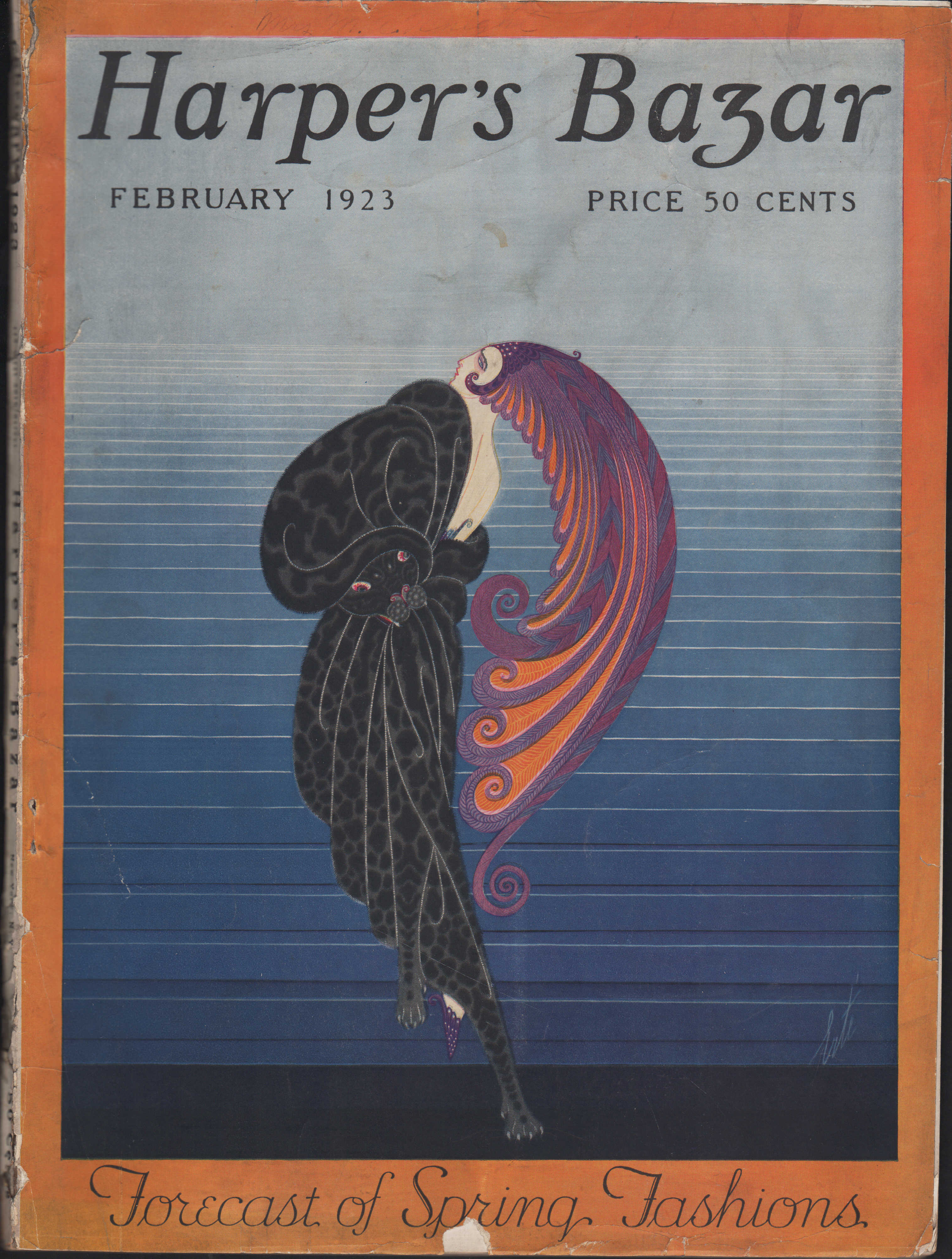 Image for Harper's Bazar (Harper's Bazaar), February, 1923 Forecast of Spring Fashions