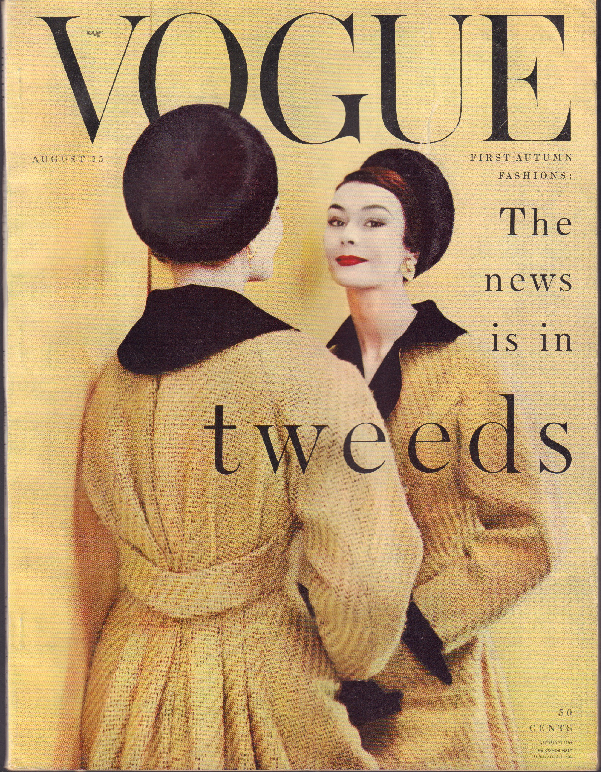 "Image for ""Vogue Magazine, August 15, 1954"""