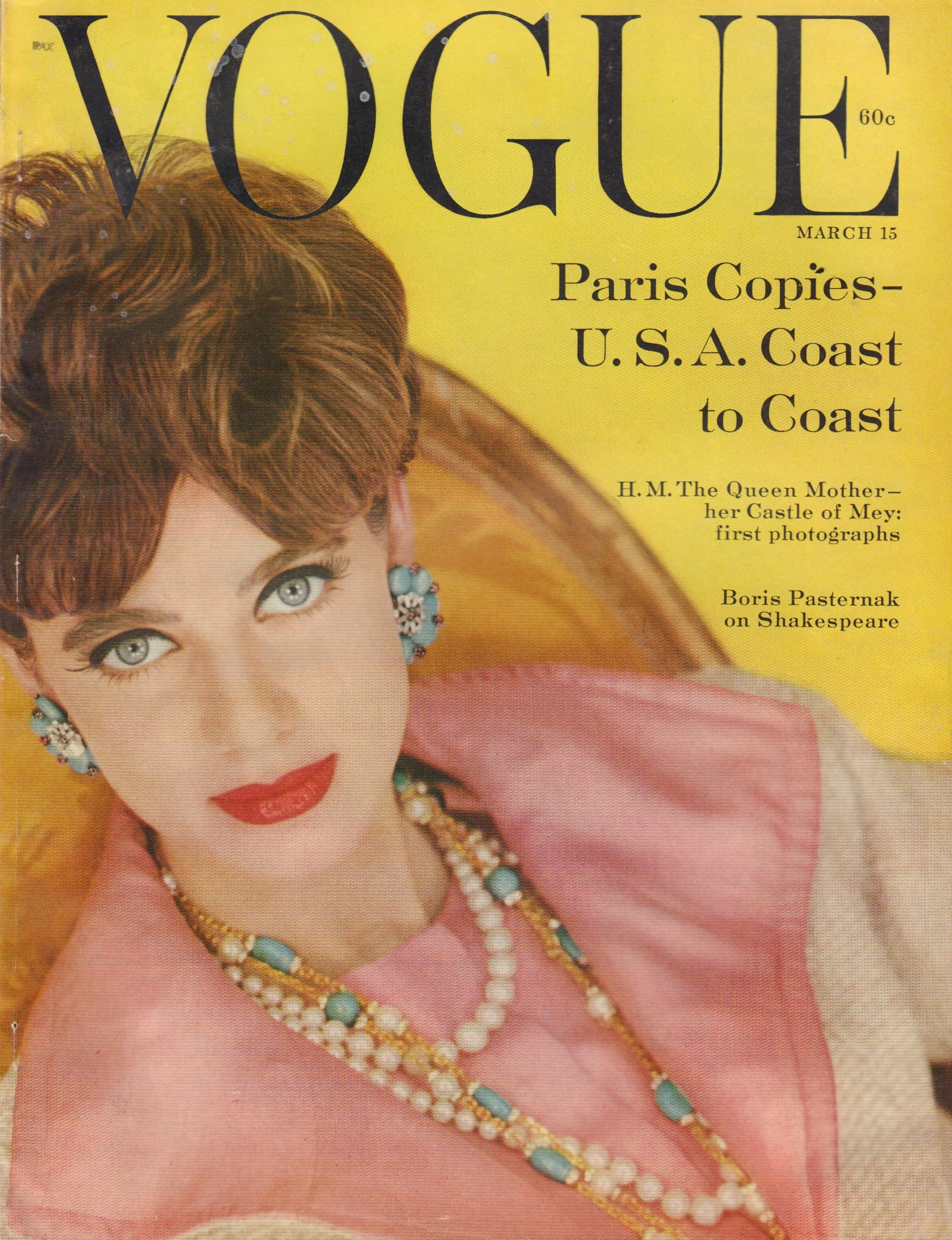 Image for Vogue Magazine  March 15, 1959