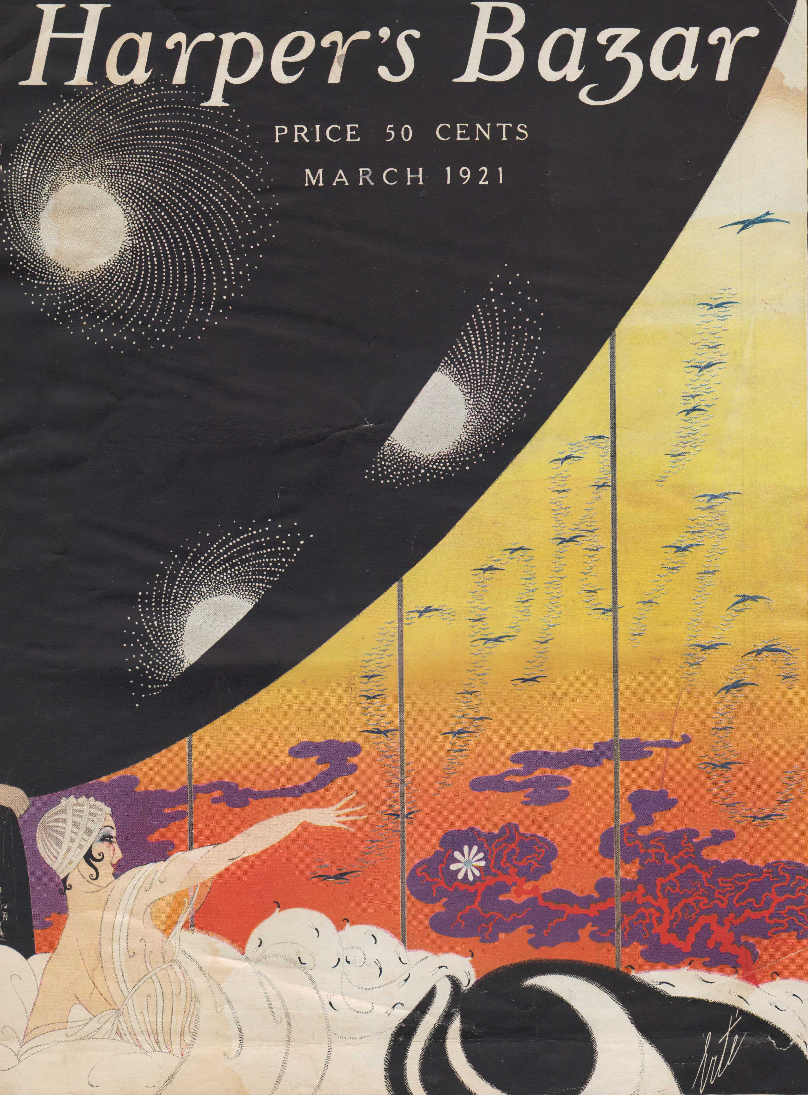 Image for Harper's Bazar (Harper's Bazaar). March 1921 - Cover Only