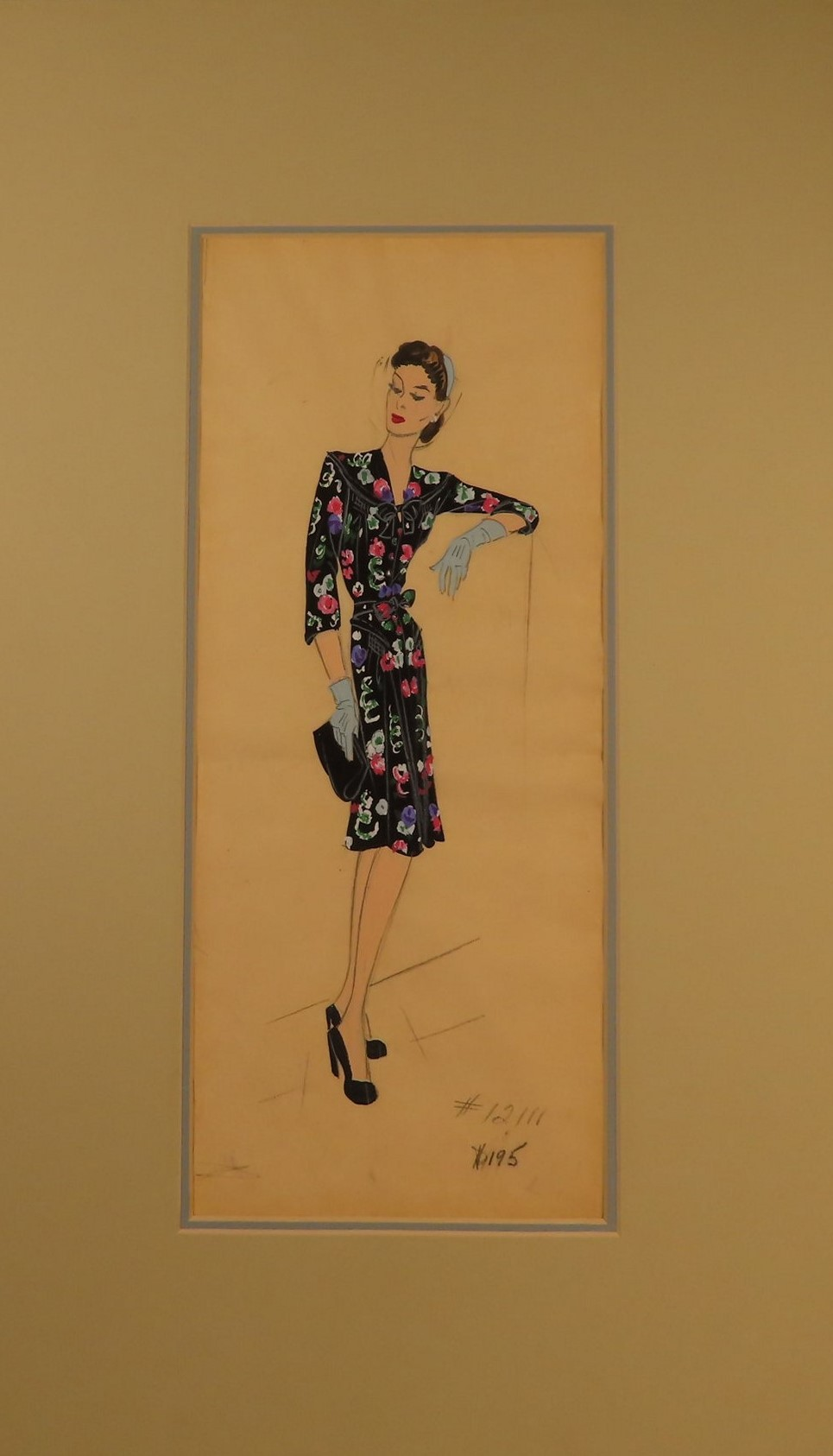 Image for Original fashion design in gouache