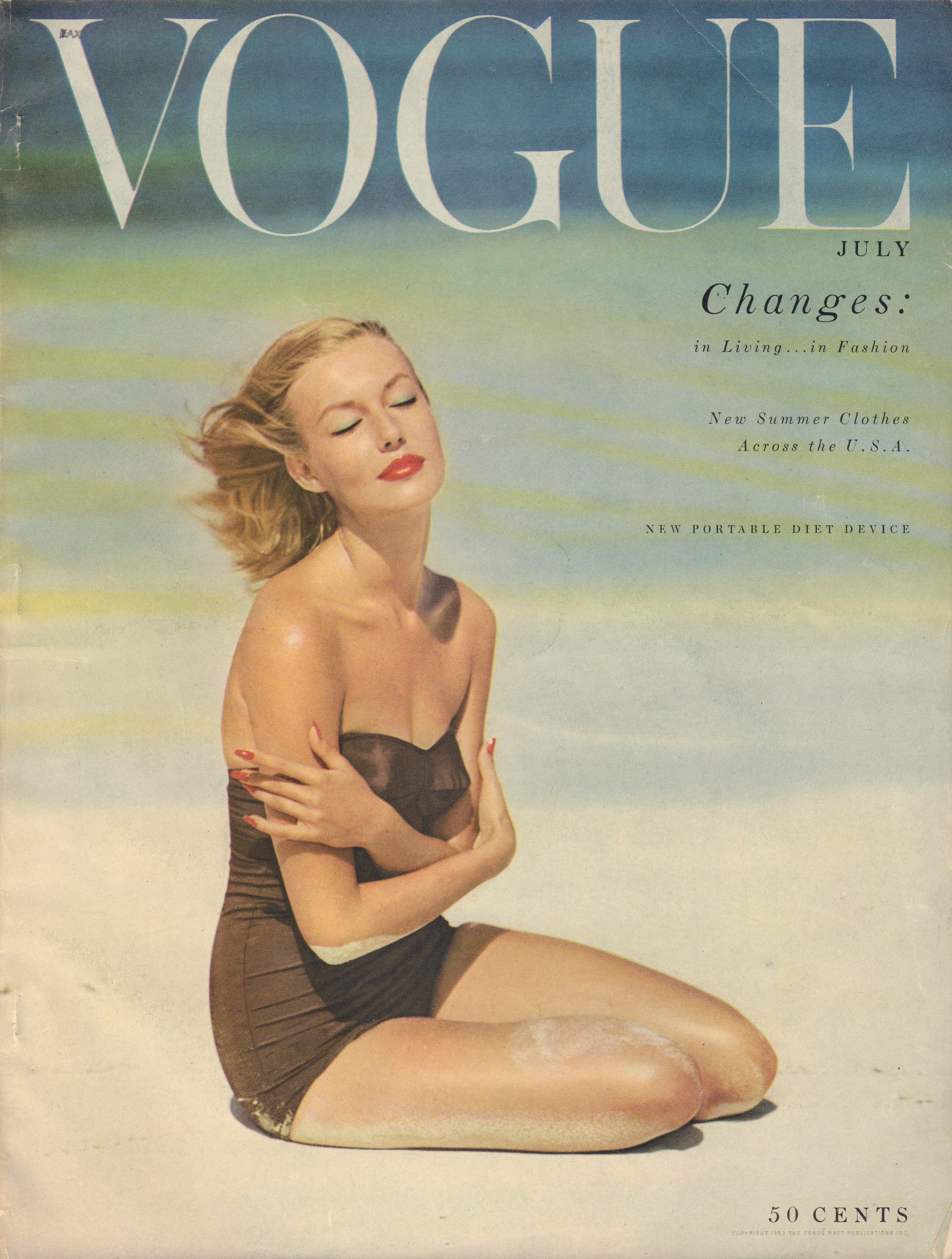 Image for Vogue Magazine. July, 1953