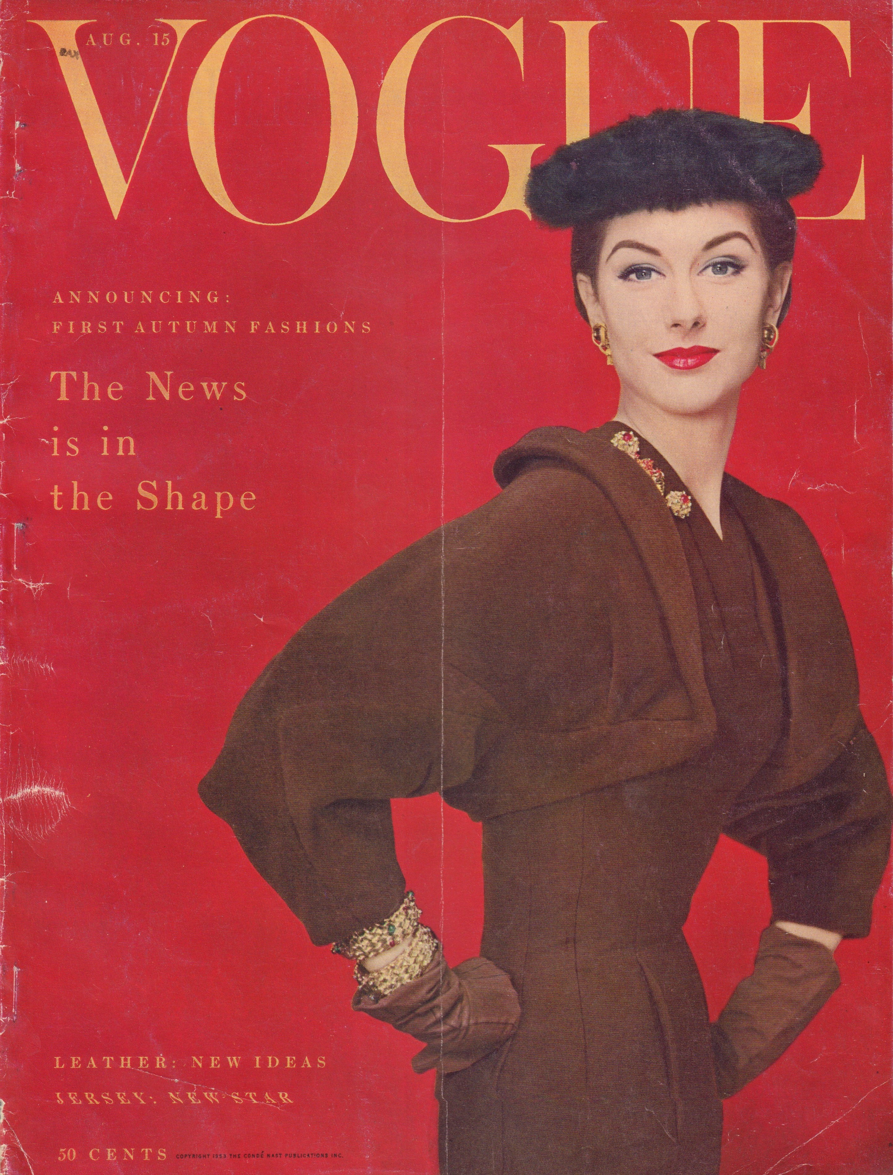 Image for Vogue Magazine. August 15, 1953