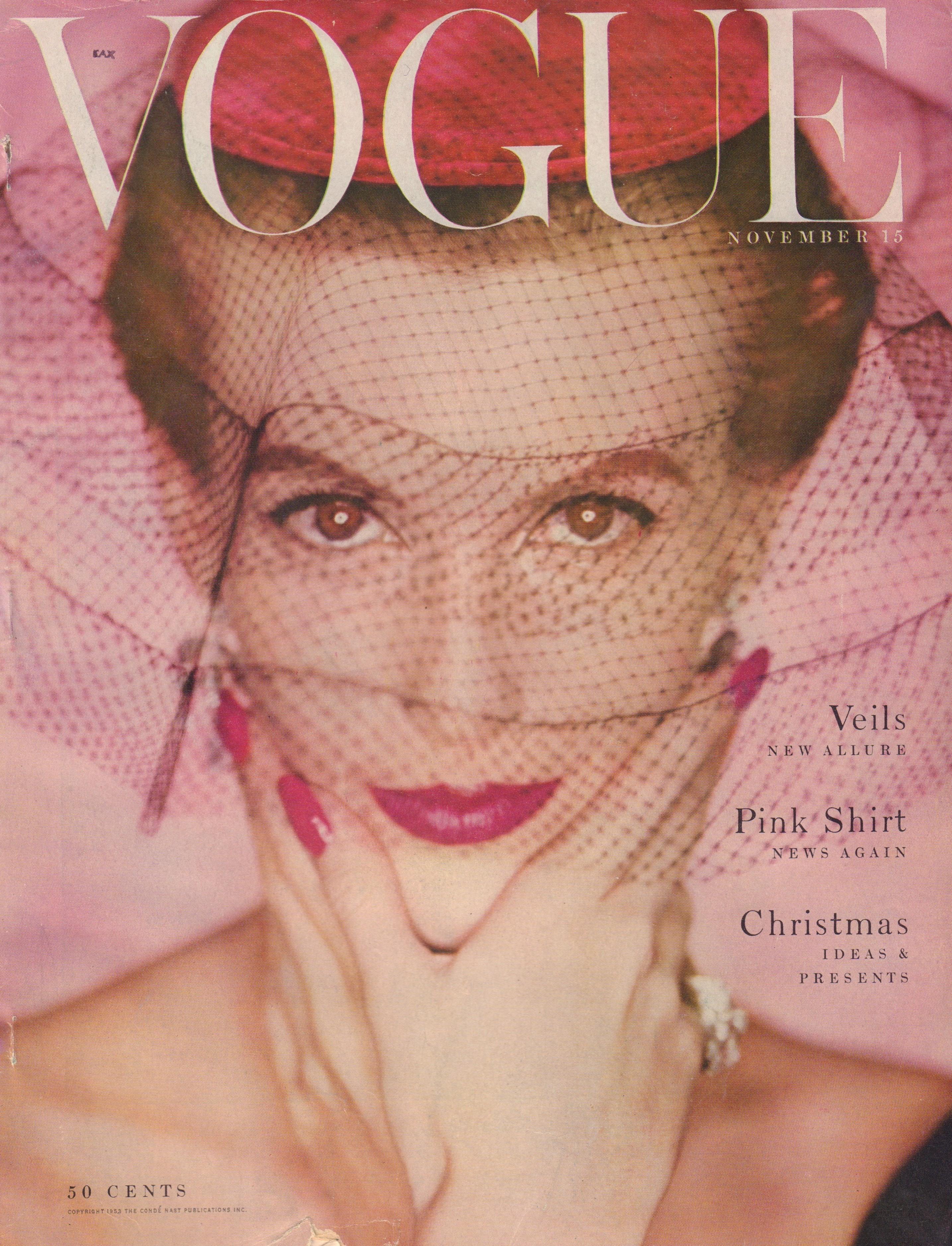 "Image for ""Vogue Magazine. November 15, 1953"""