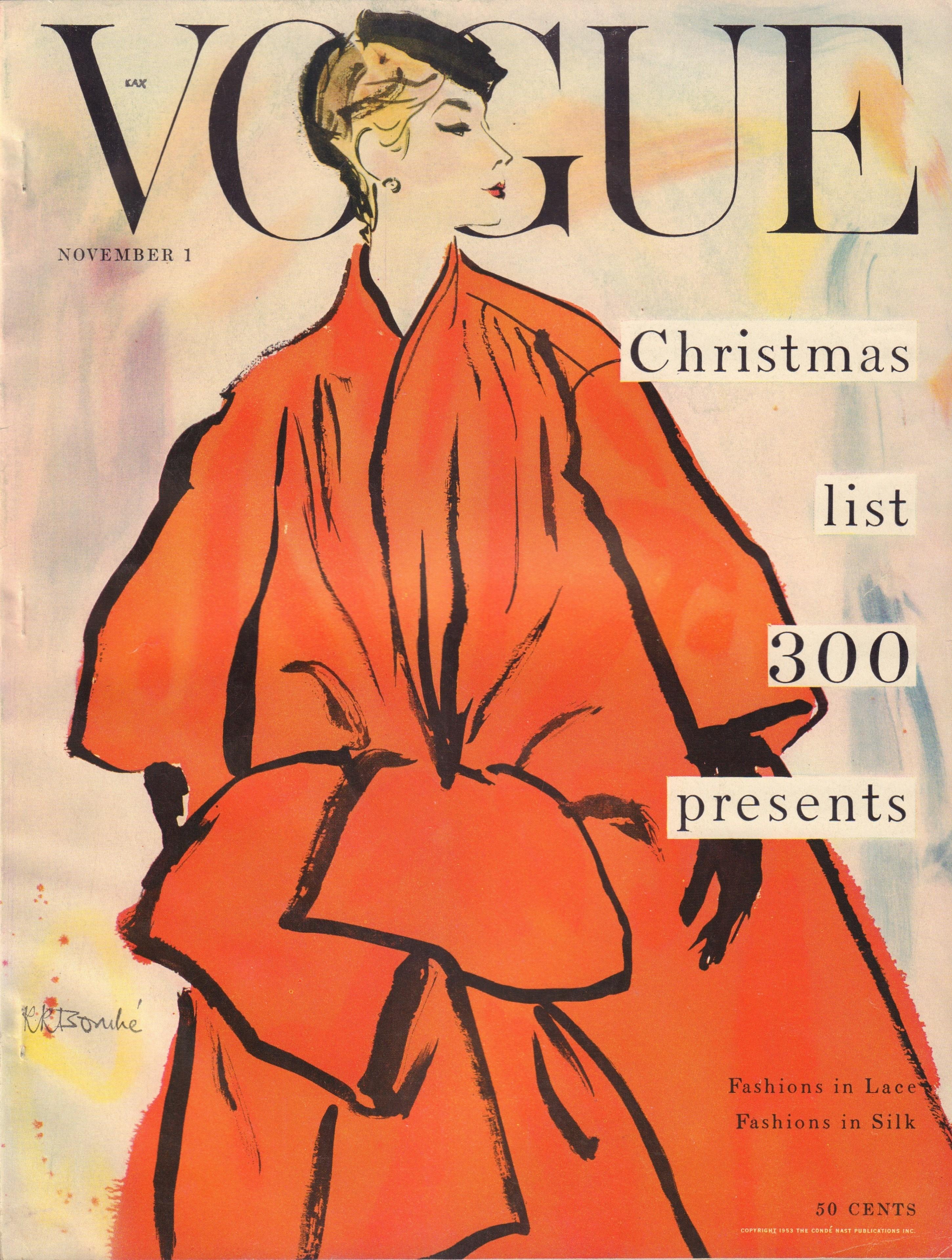 "Image for ""Vogue Magazine. November 1, 1953 """