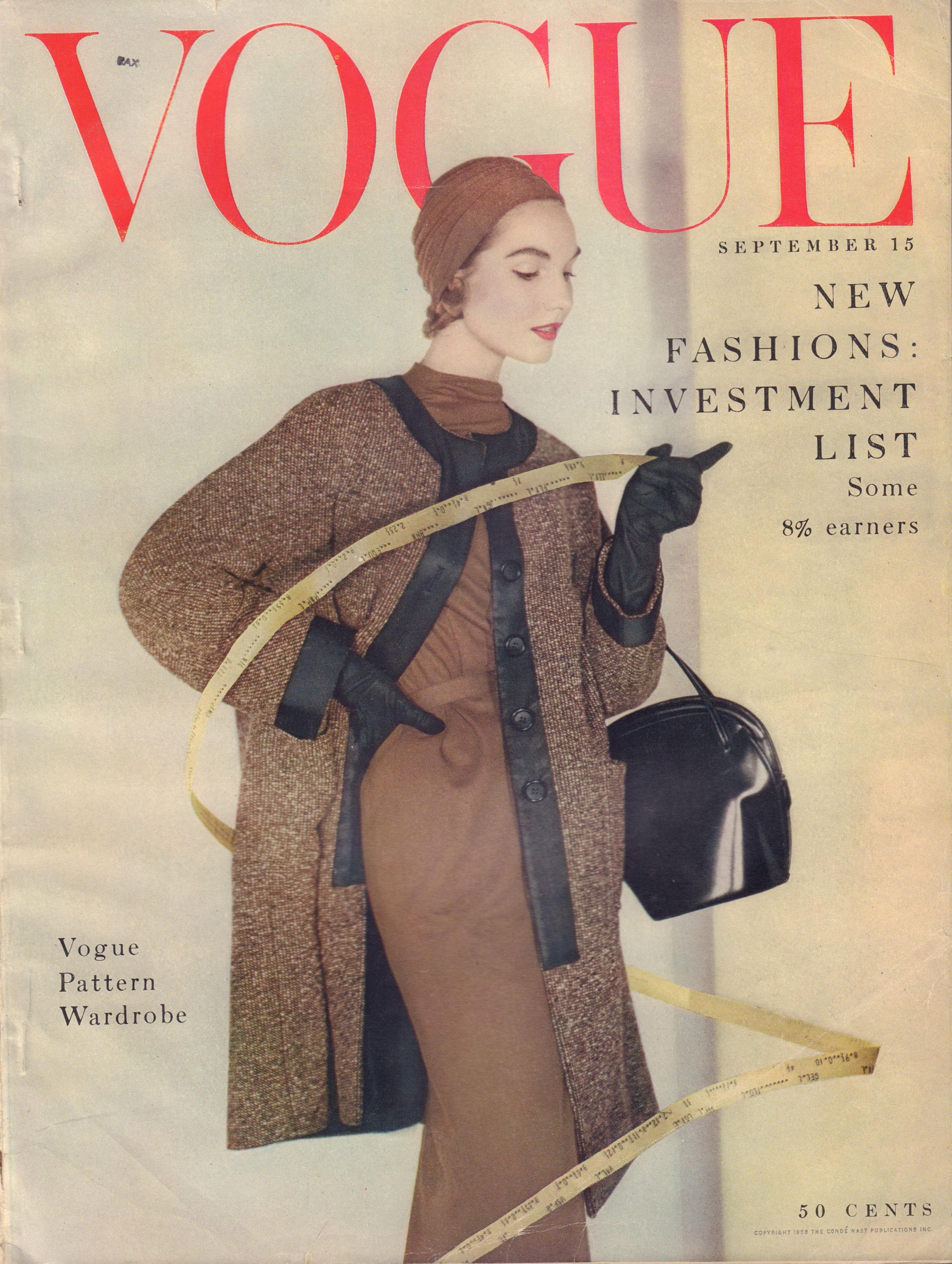 "Image for ""Vogue Magazine. September 15, 1953"""