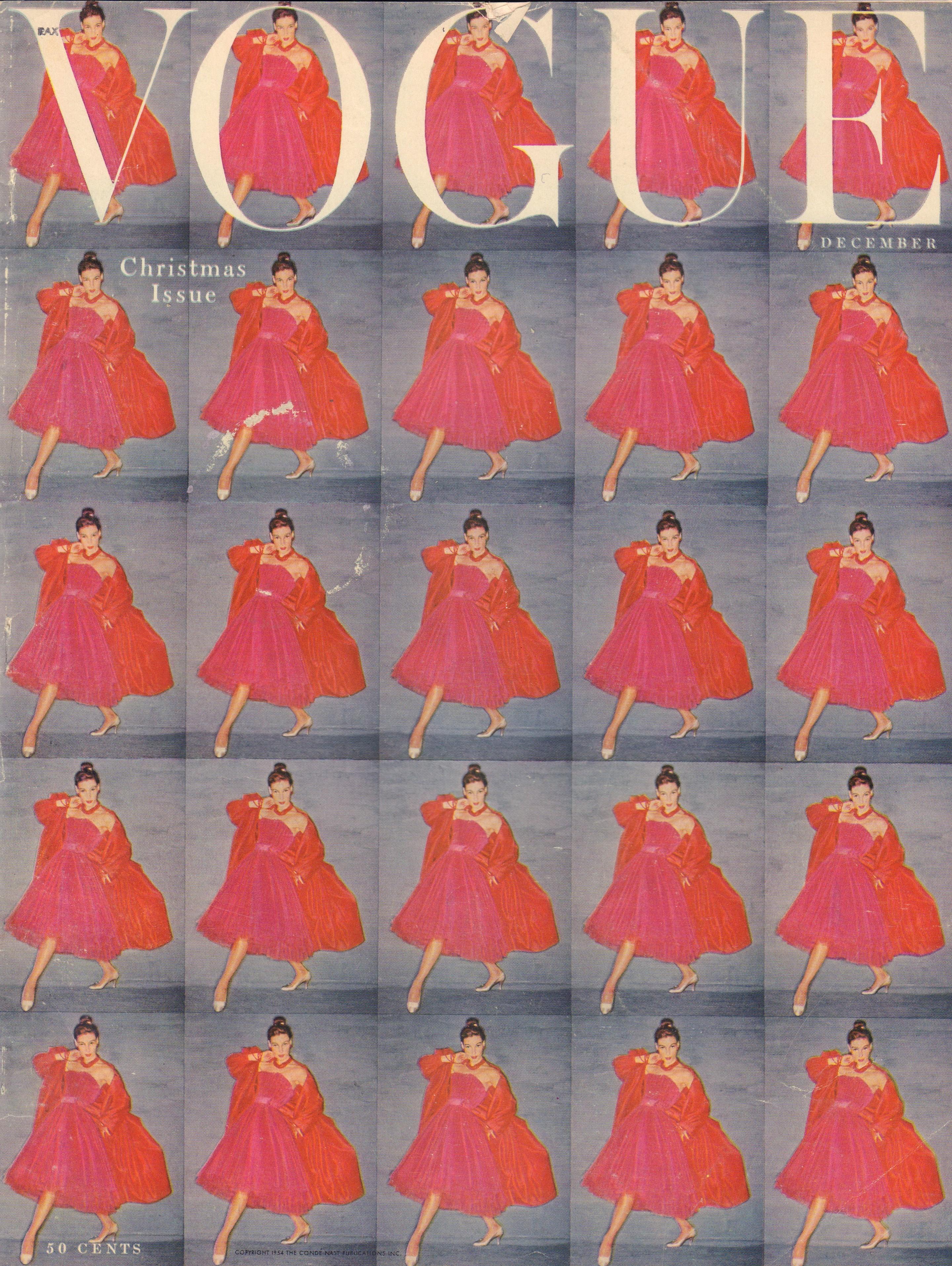 "Image for ""Vogue Magazine, December, 1954"""
