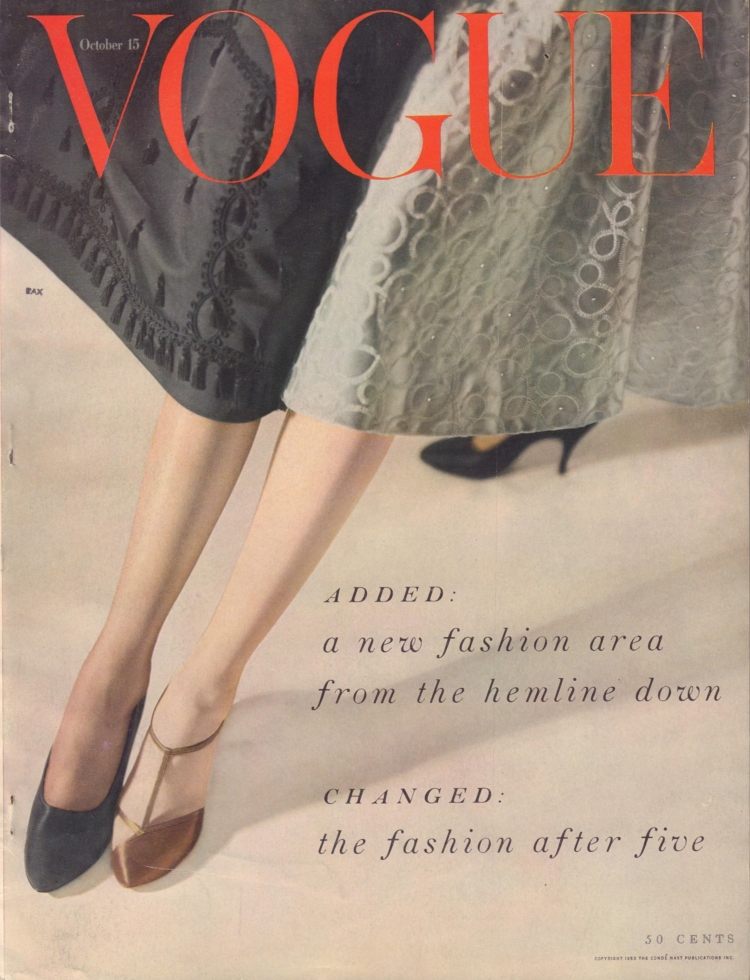 "Image for ""Vogue Magazine. October 15, 1953"""