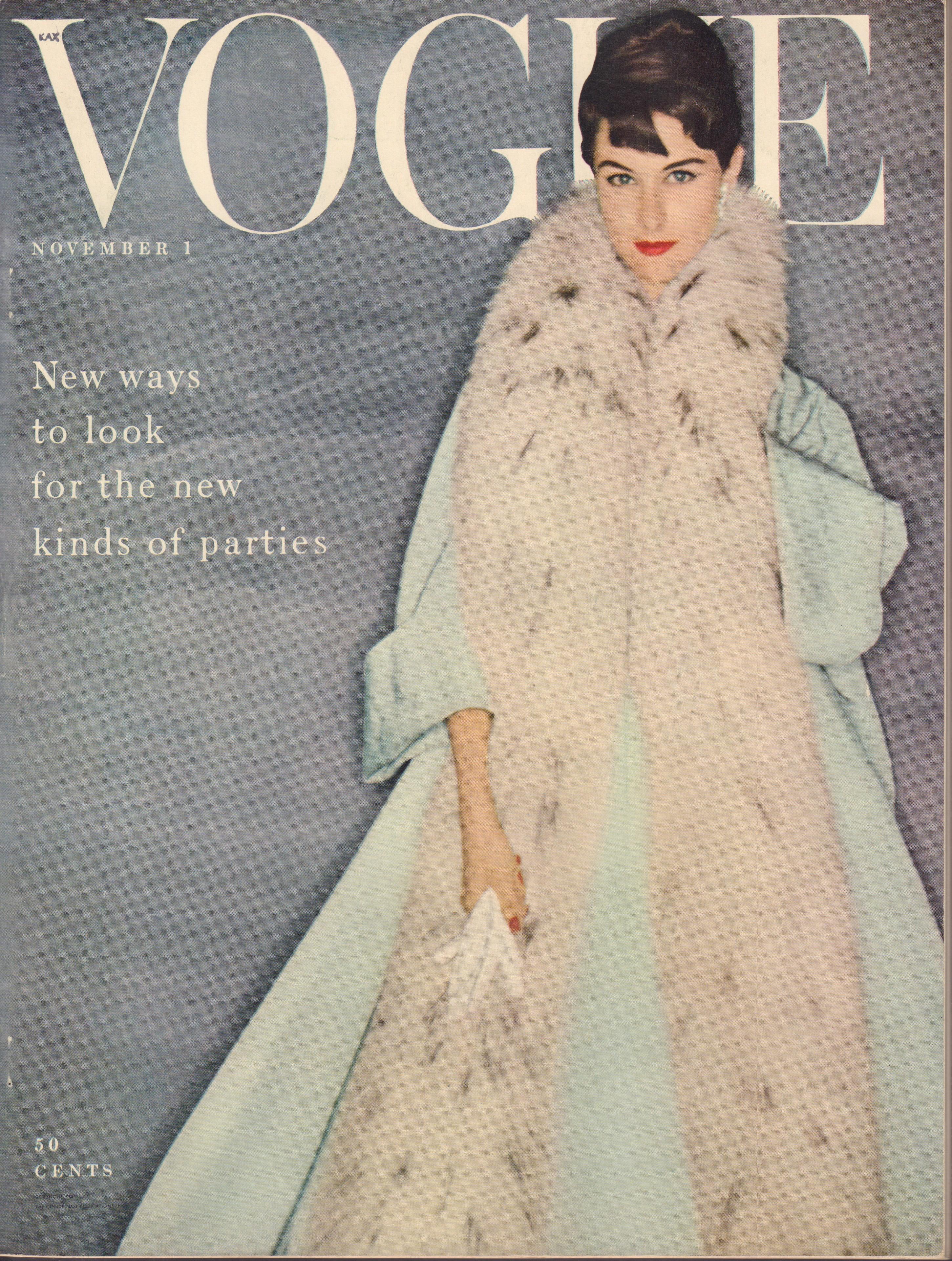 "Image for ""Vogue Magazine. November 1, 1954"""