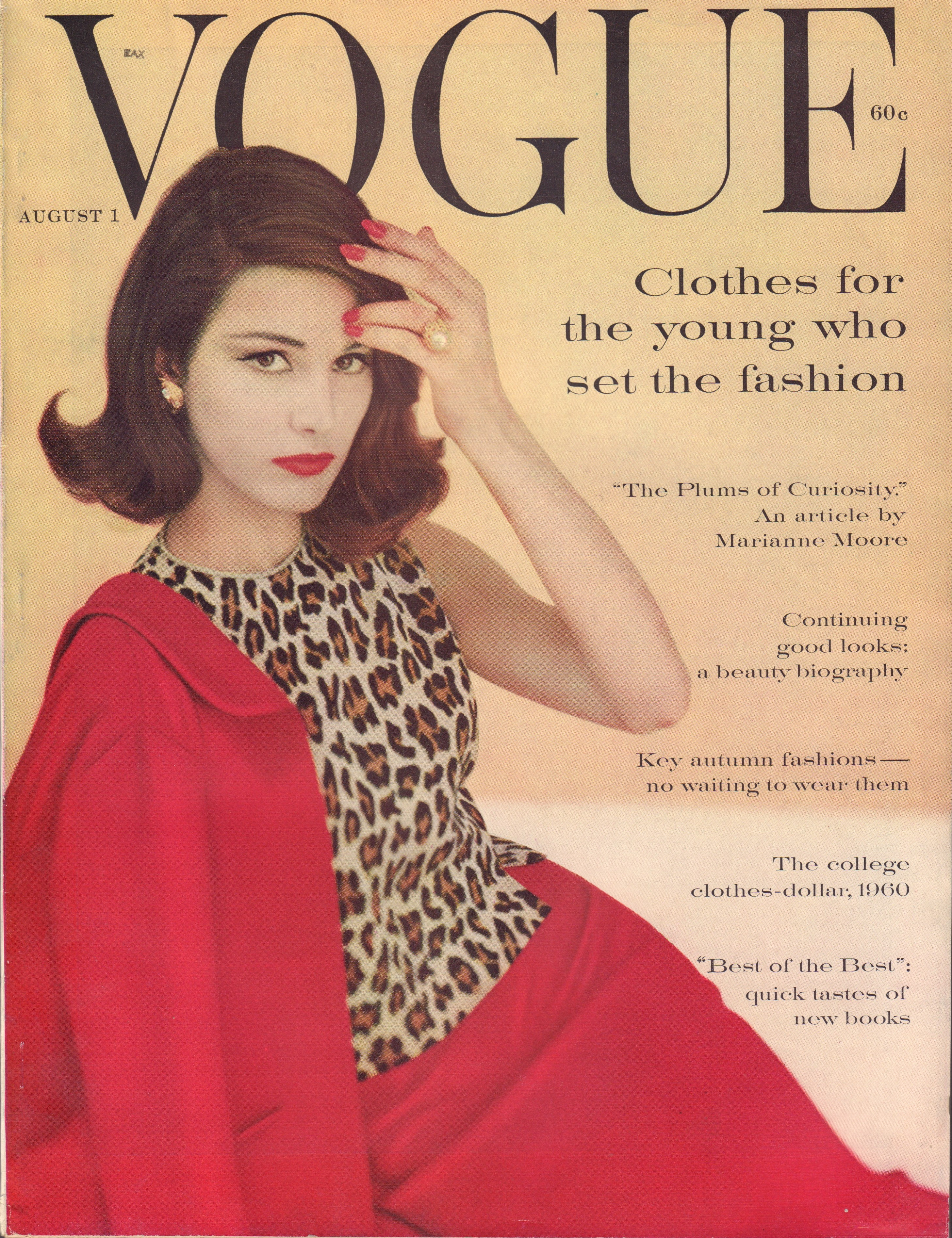 Image for Vogue Magazine. August 1, 1960
