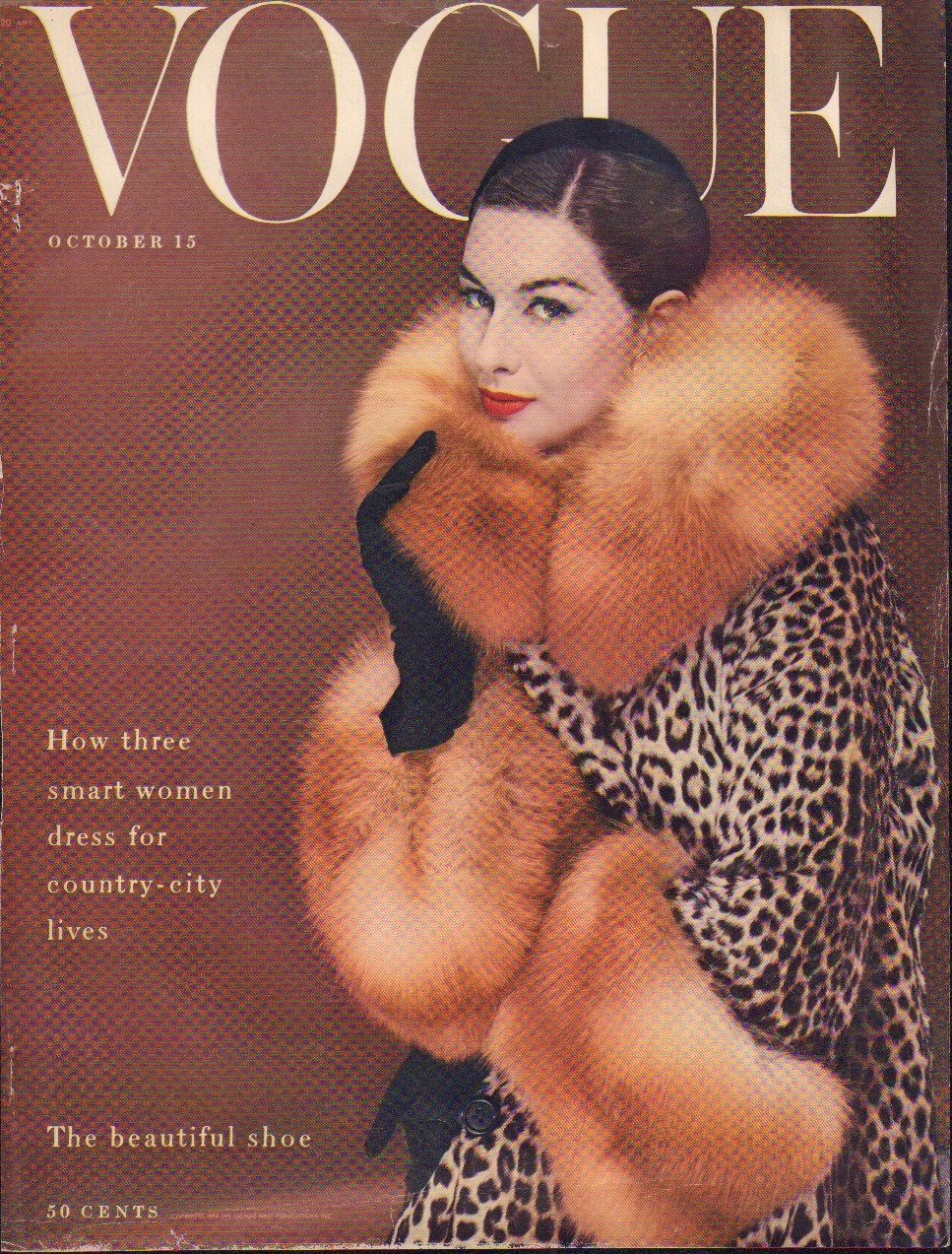 Image for Vogue October 15,1954. Cover