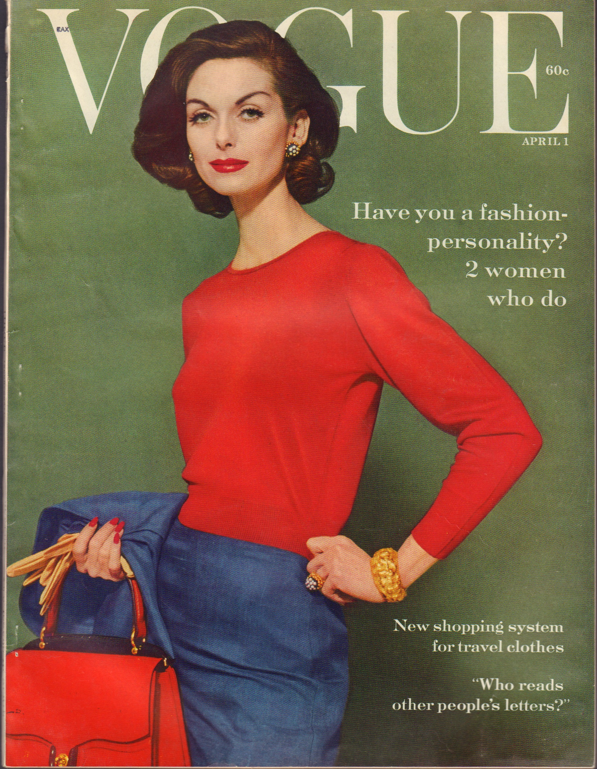 "Image for ""Vogue Magazine. April 1, 1959"""