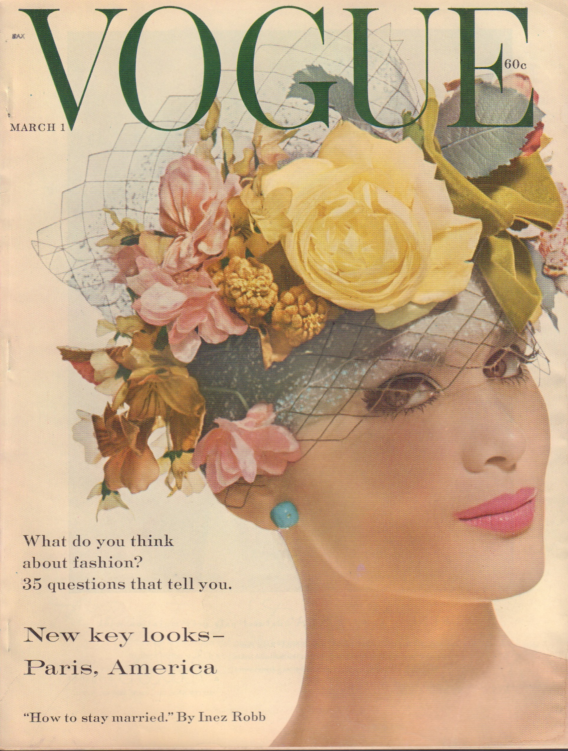 "Image for ""Vogue Magazine. March 1, 1959"""