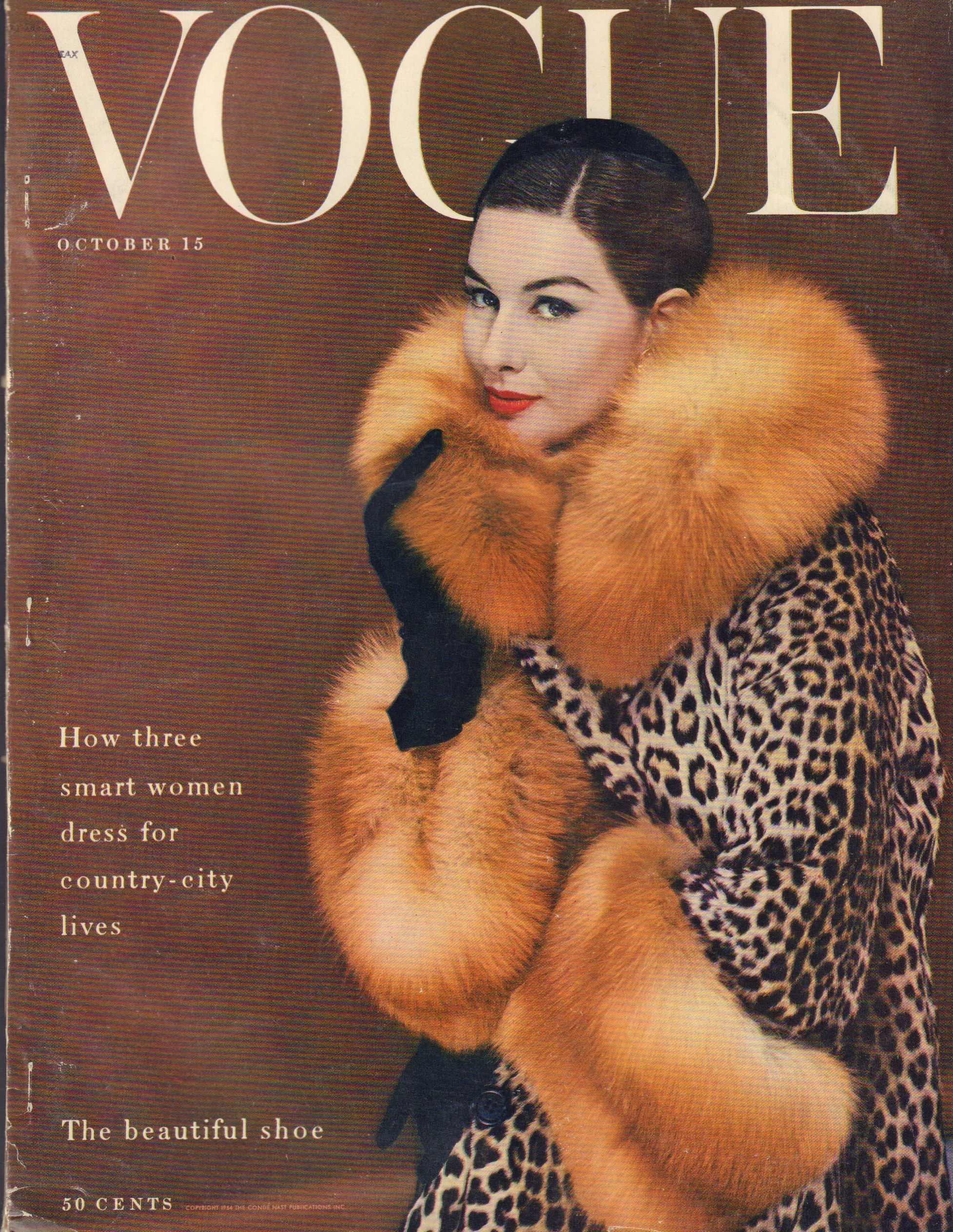 "Image for ""Vogue October 15,1954"""