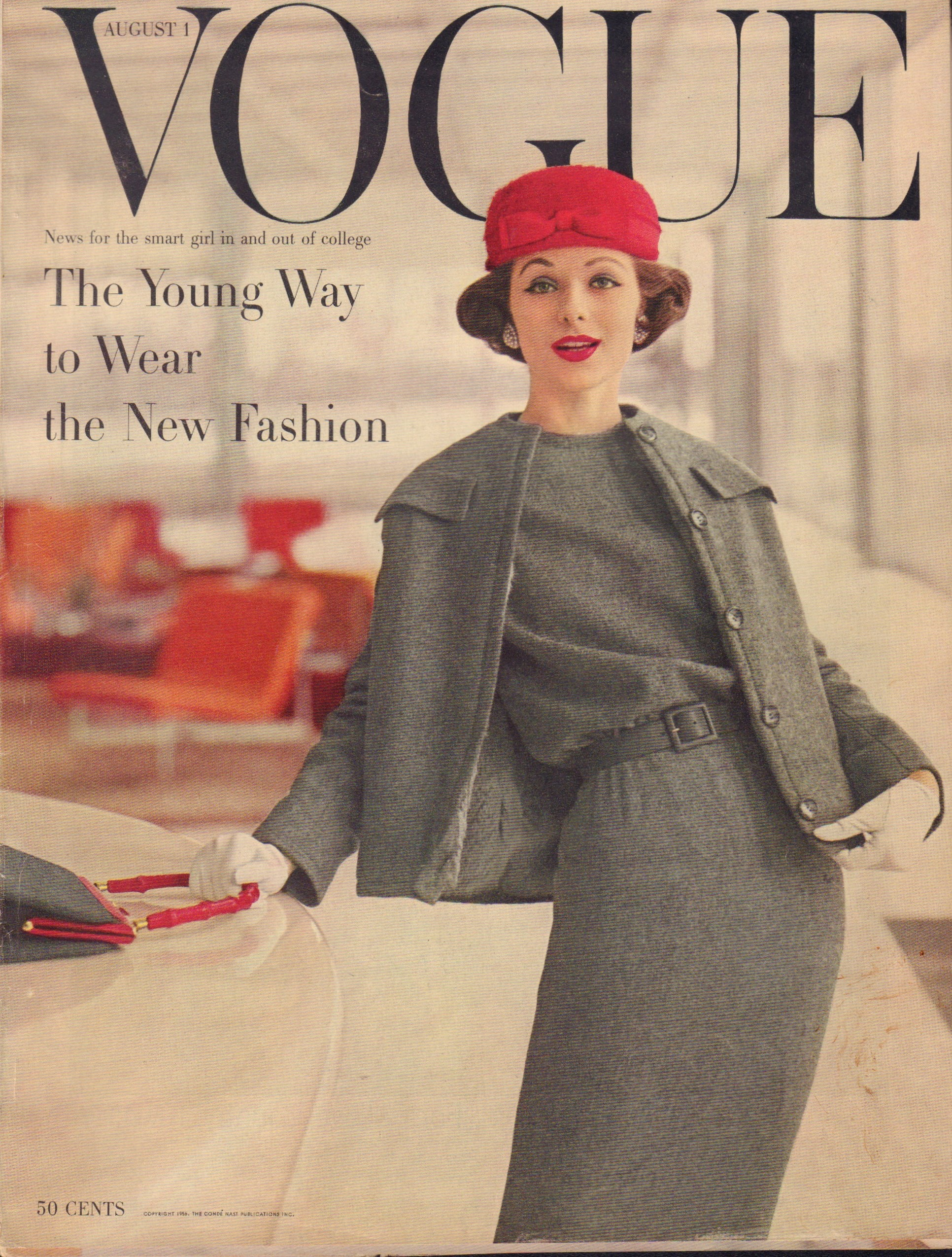 "Image for ""Vogue August 1, 1956 Cover"""