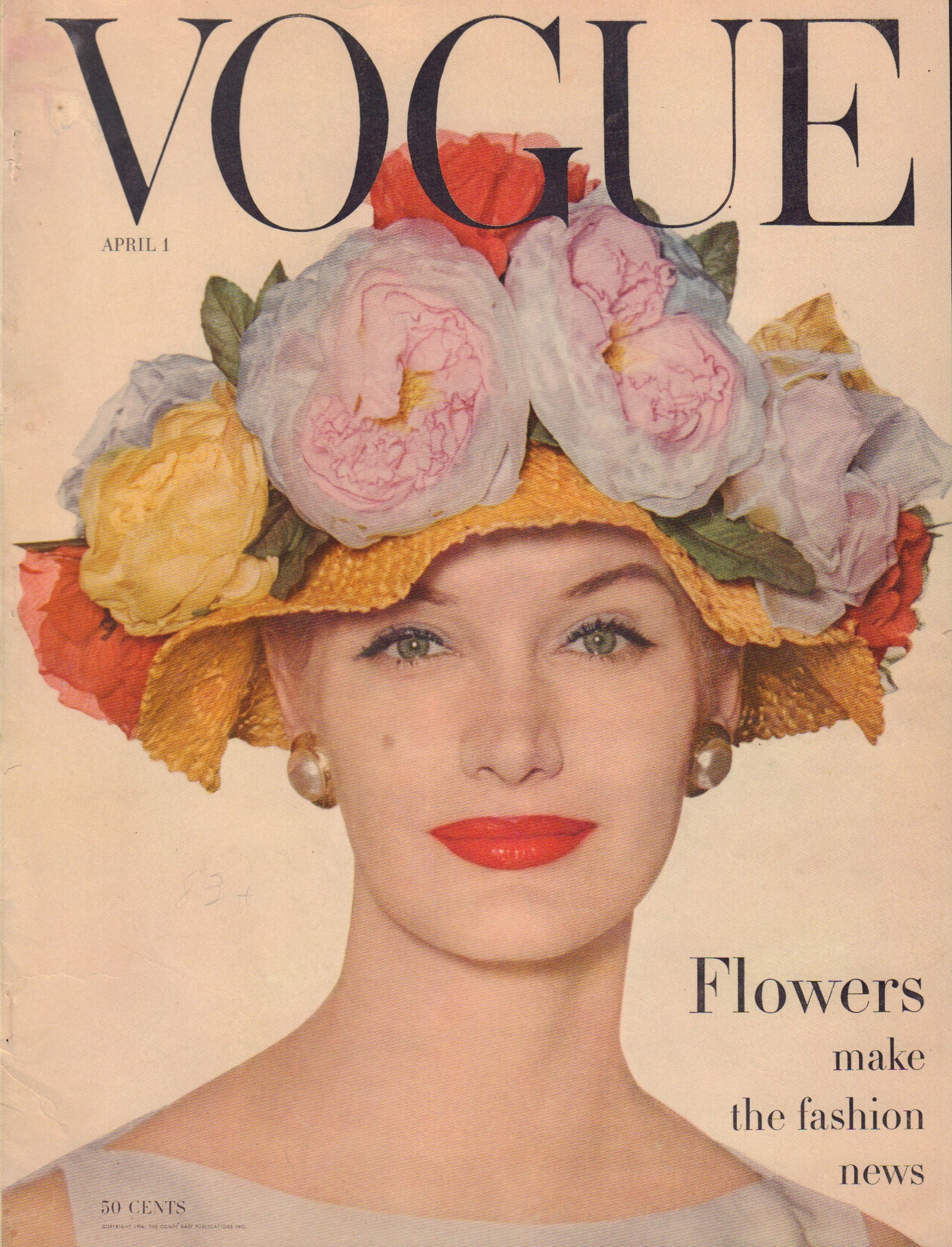 "Image for ""Vogue April 1, 1956 Cover"""