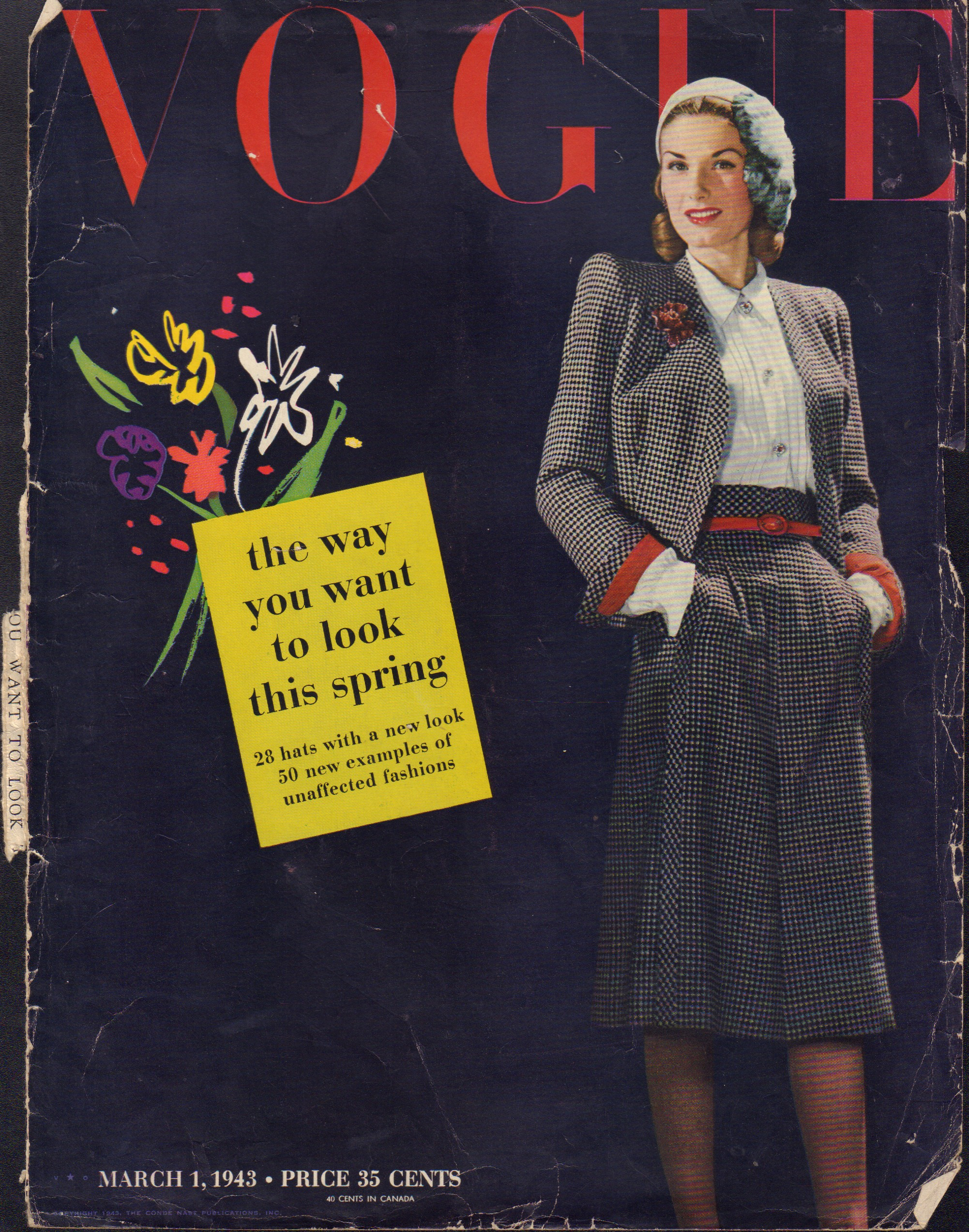 "Image for ""Vogue April 1, 1943 Cover"""