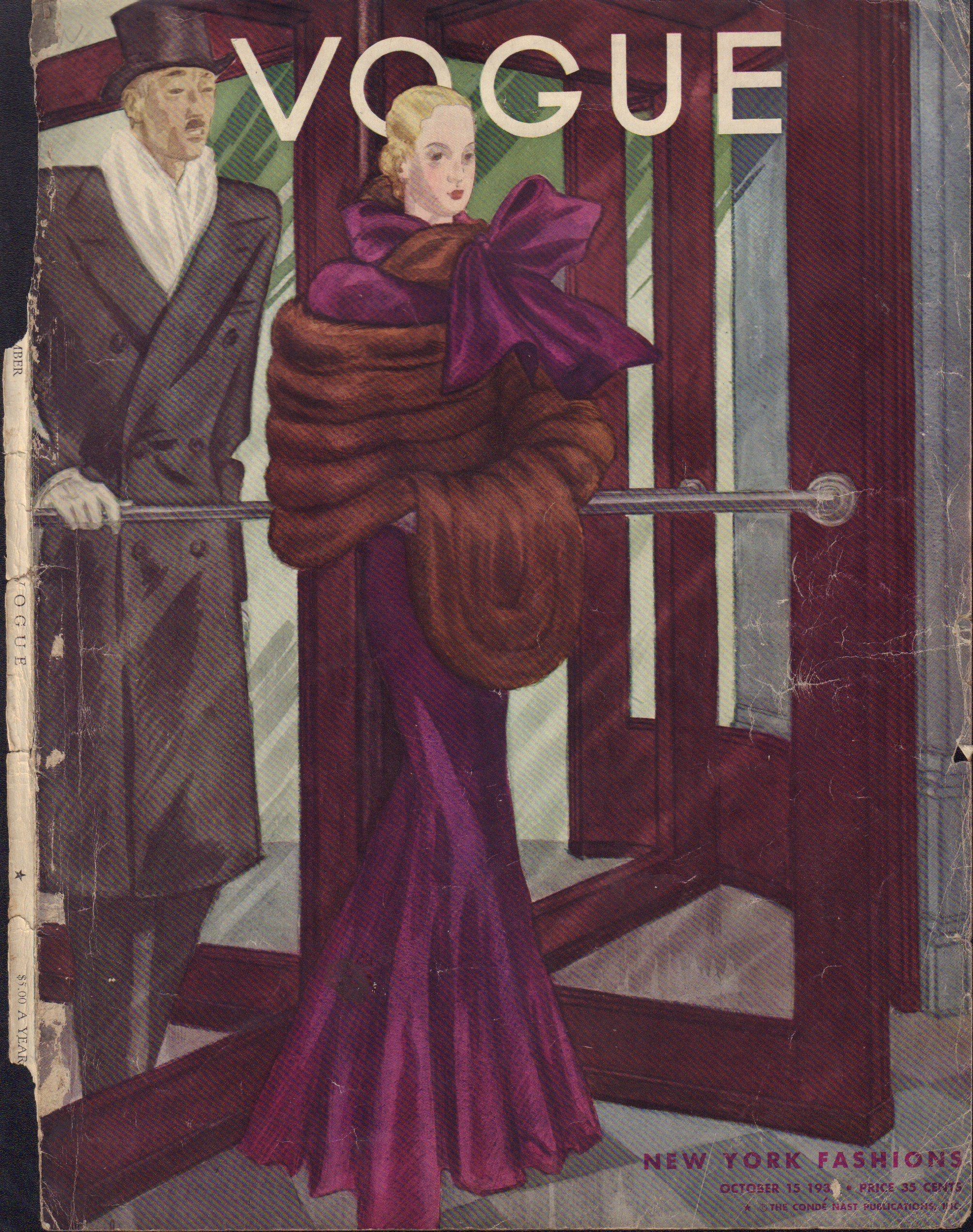 "Image for ""Vogue October 15, 1933 Cover"""