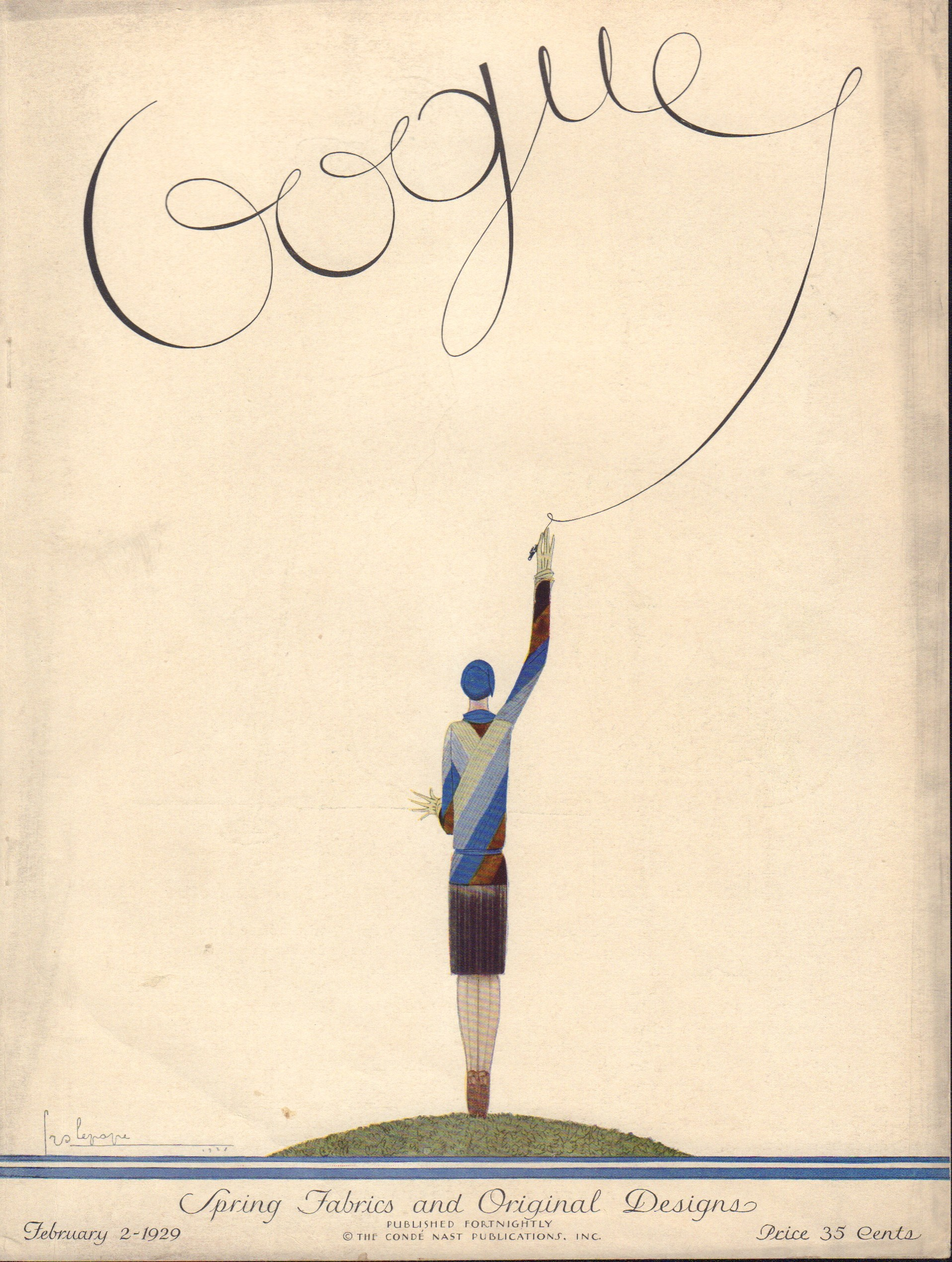 Image for Vogue February 2, 1929 Cover