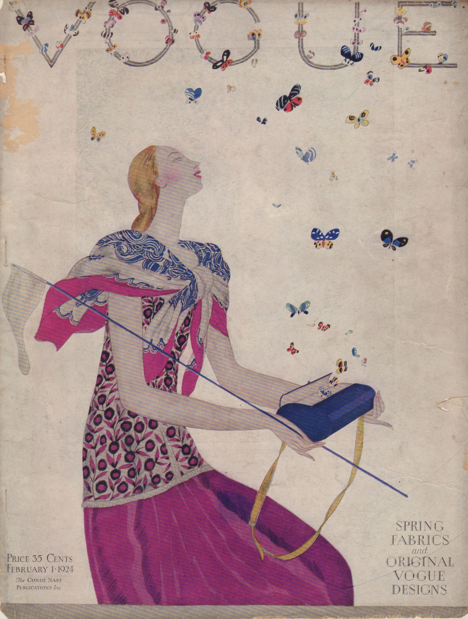 "Image for ""Vogue February 1, 1924 Cover"""