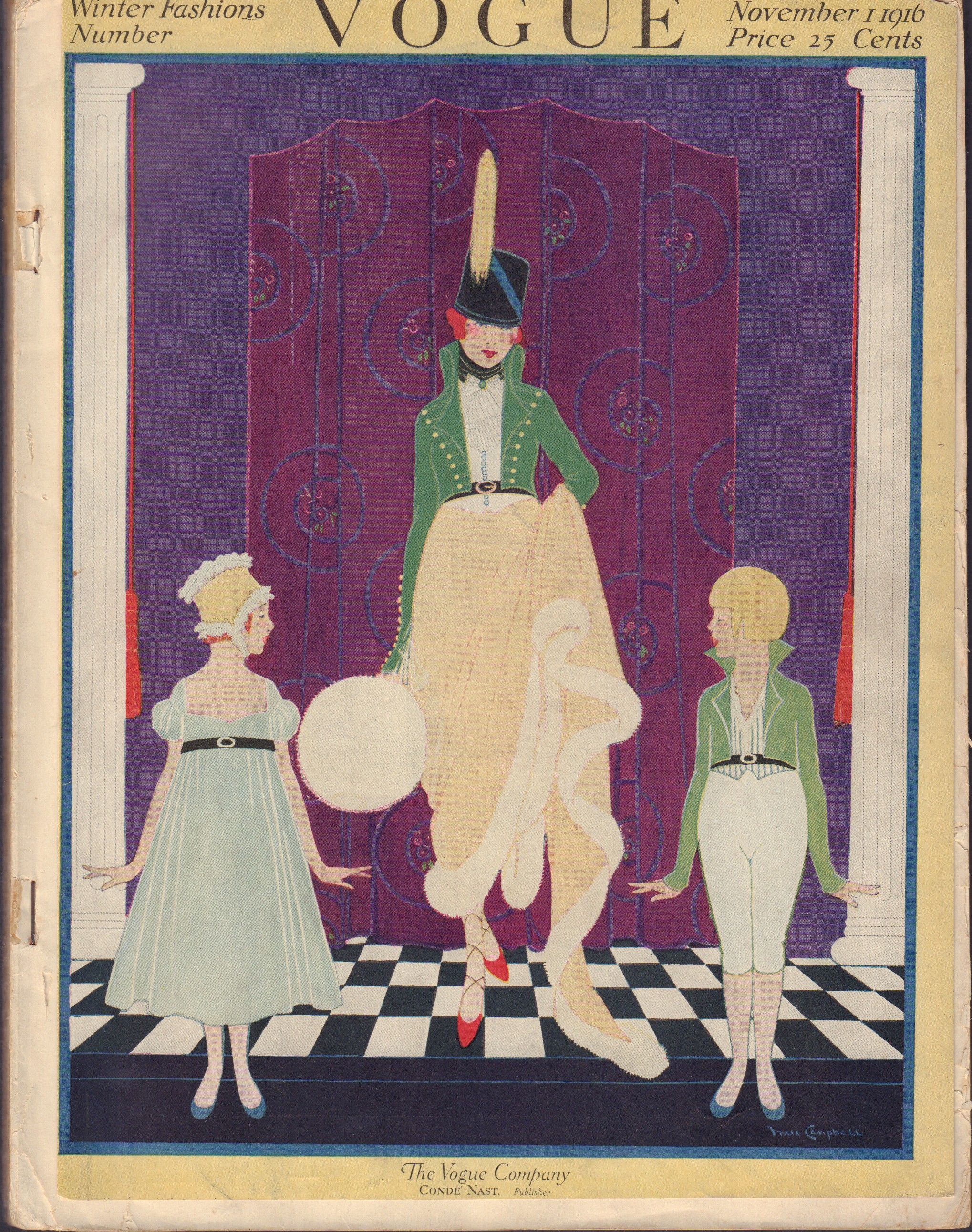 Image for Vogue November 1, 1916 Cover + magazine