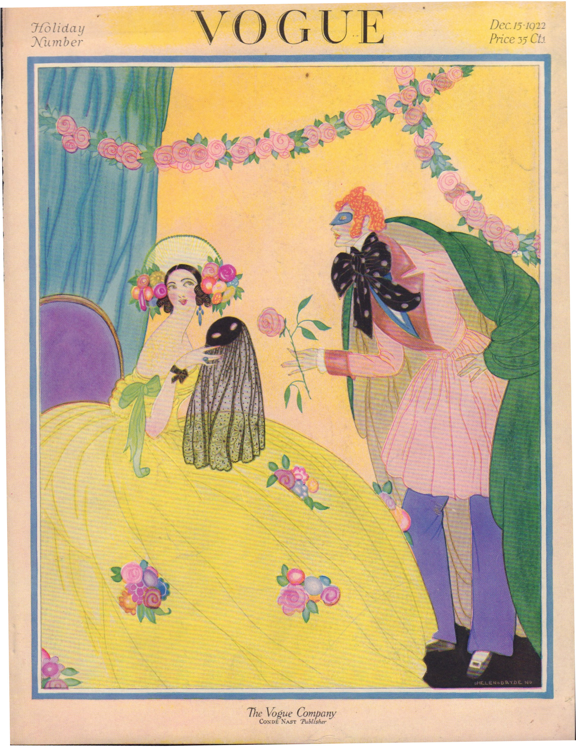"Image for ""Vogue December 15, 1922 Cover"""