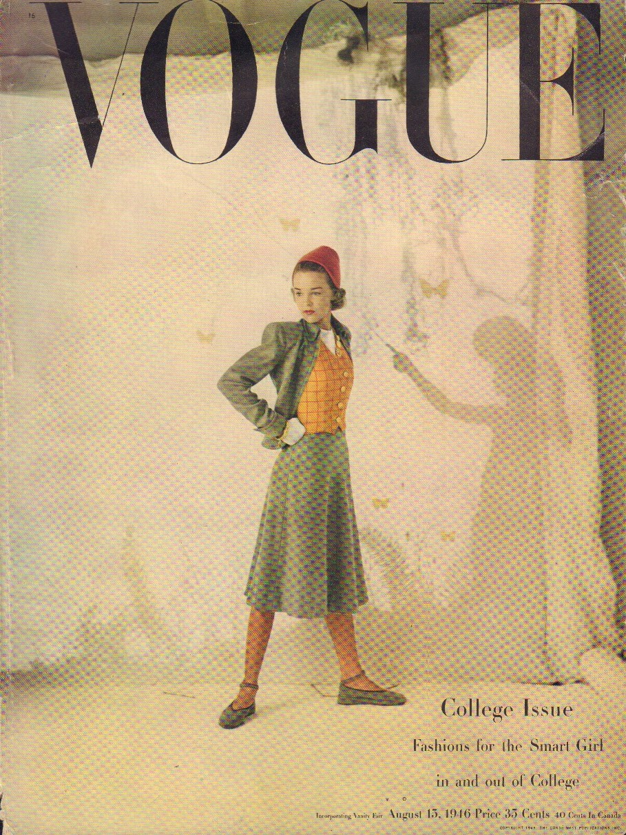 "Image for ""Vogue August 15, 1946 Cover"""