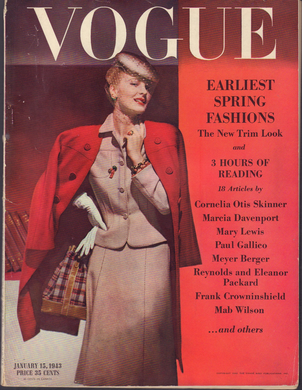 "Image for ""Vogue April 1, 1943"""