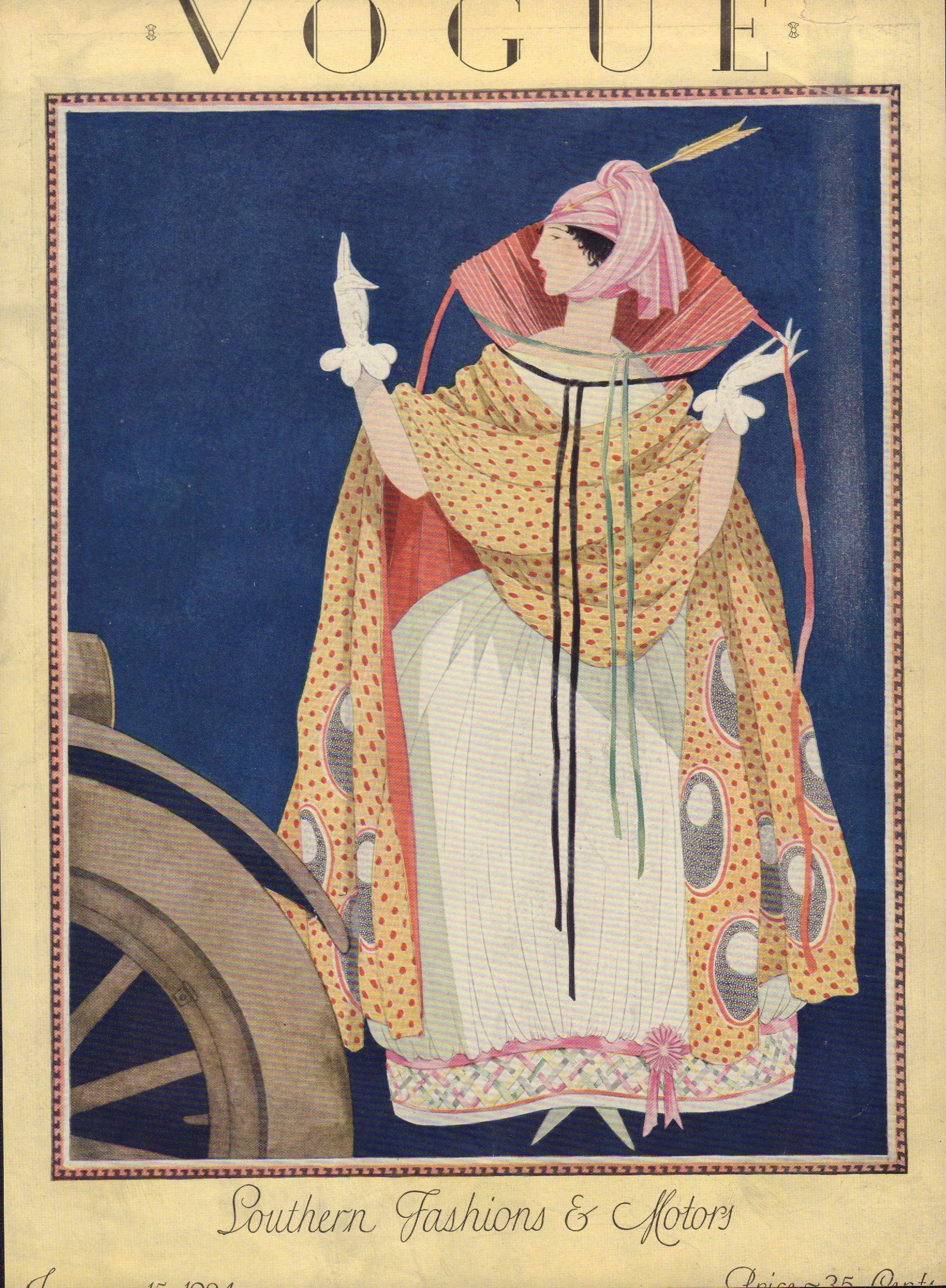 Image for Vogue January 15, 1924 (Cover only)