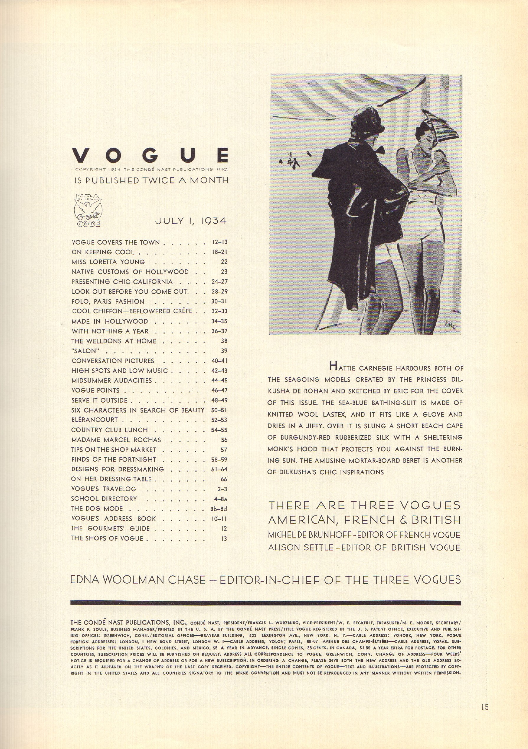 Image for Vogue July 1, 1934