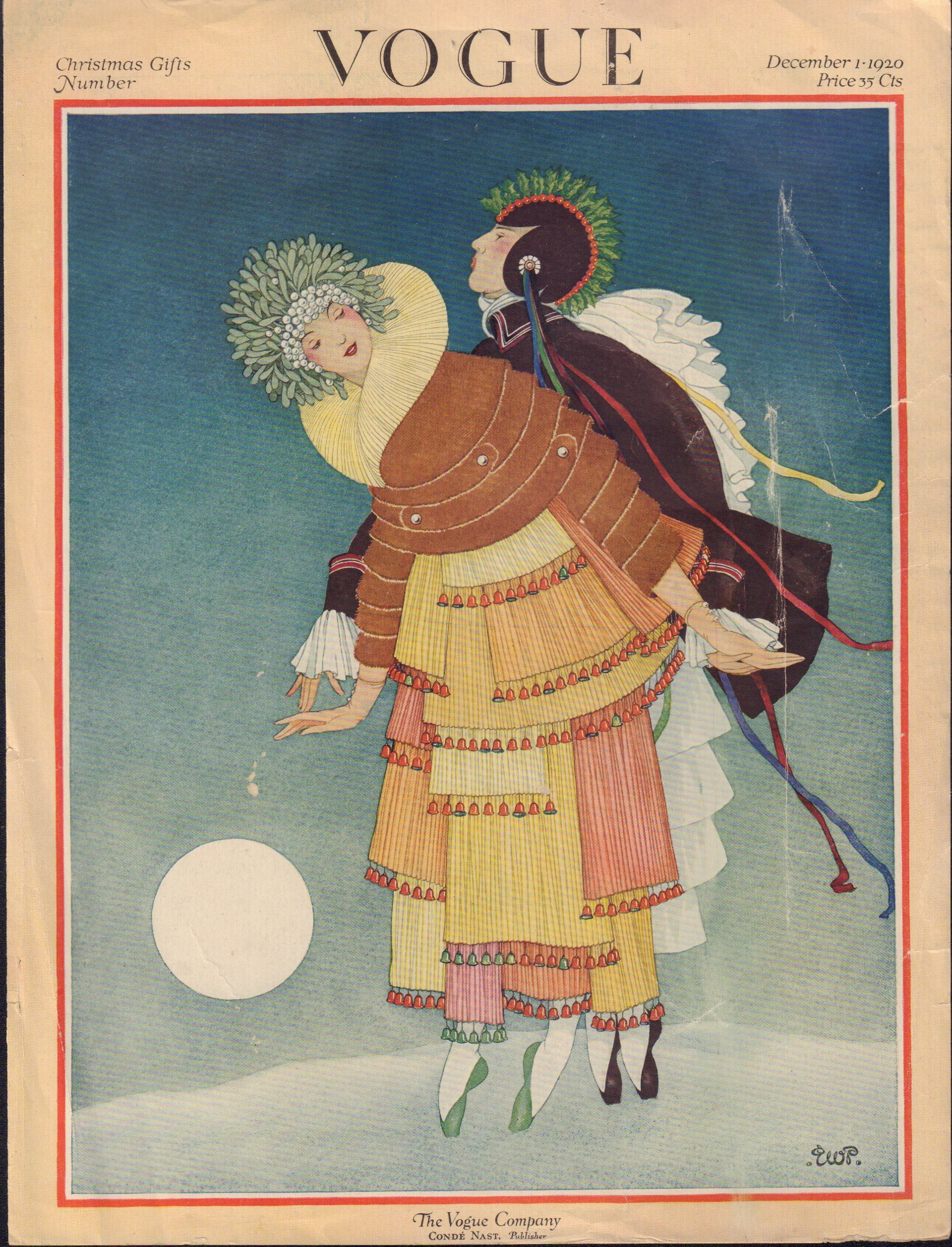 Image for Vogue, December 1, 1920. Cover only.