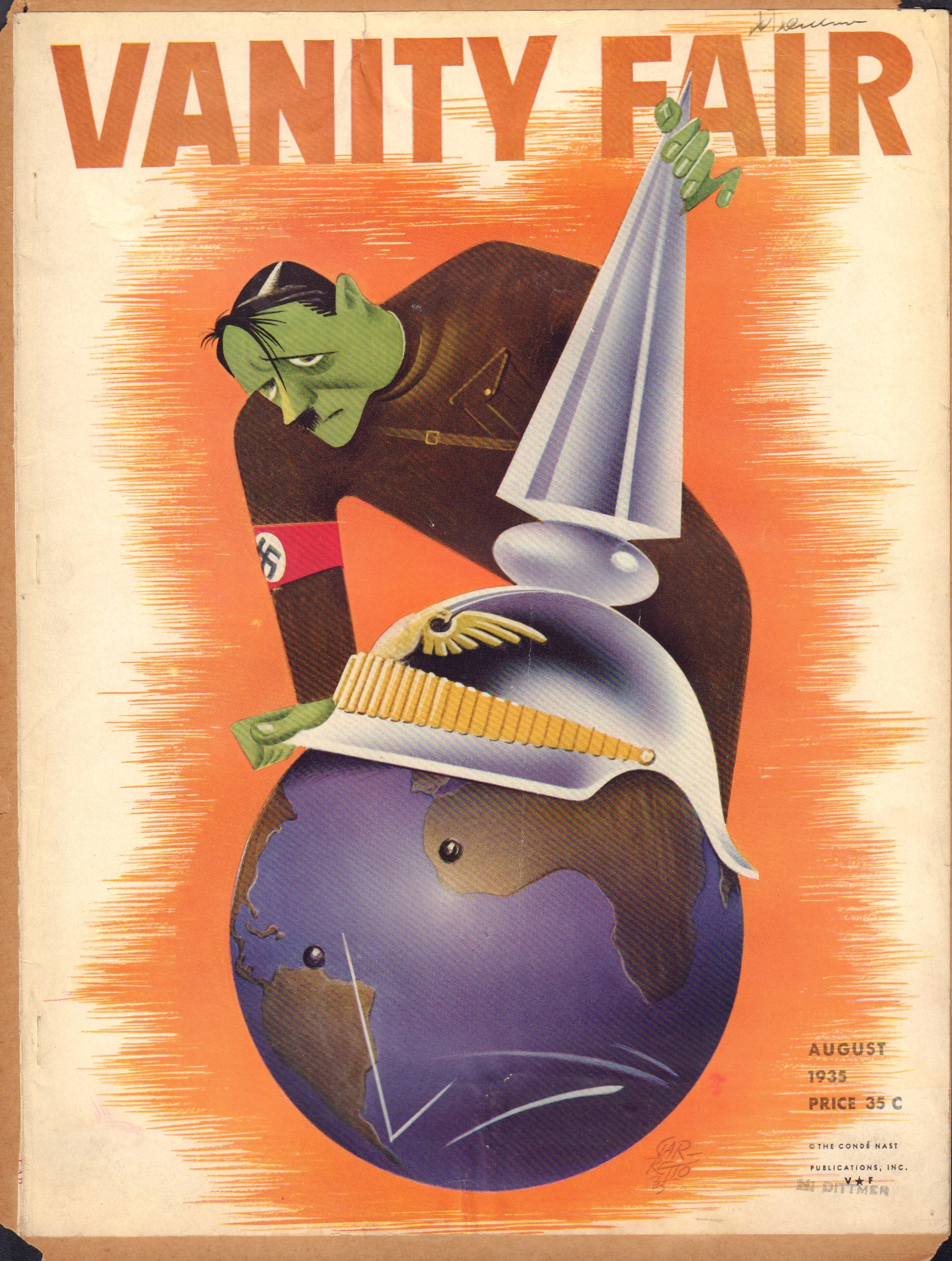 Image for Vanity Fair August 1935 (Cover Only)