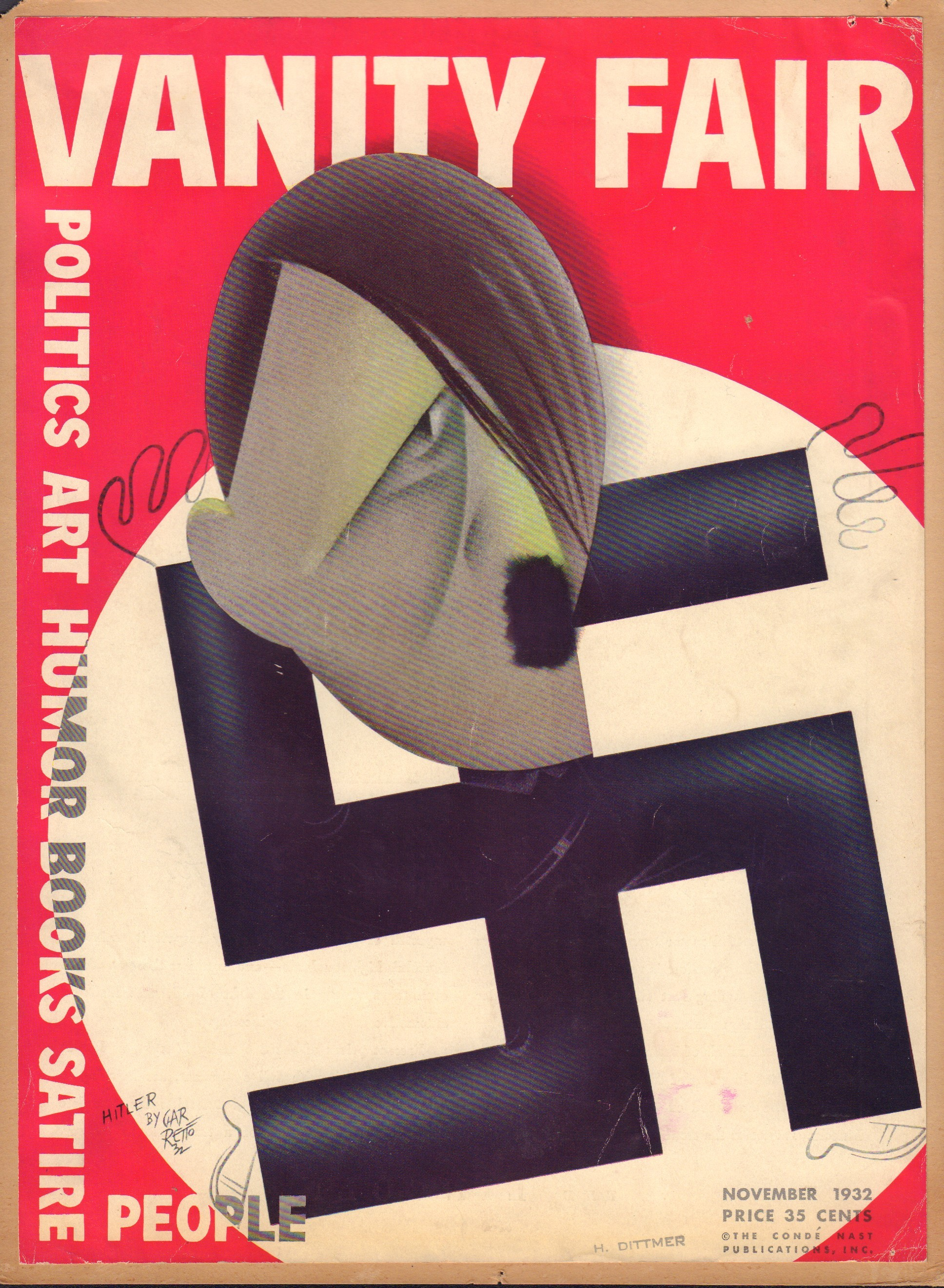 Image for Vanity Fair November 1932 (Cover Only)
